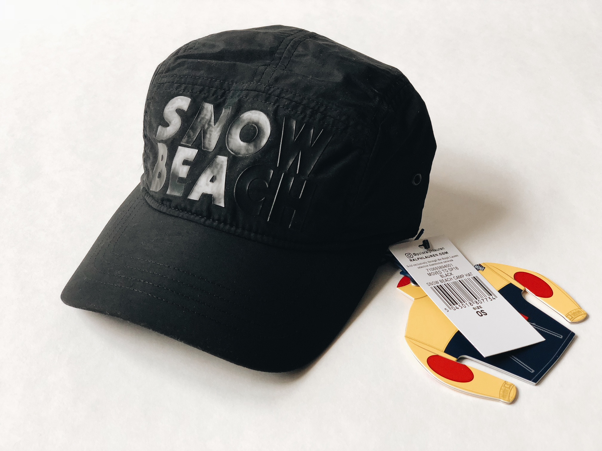 3a3e9e3311d Polo Ralph Lauren SNOW BEACH B W  SZ OS  CAMP CAP HAT NYLON MULTI BLACK  WHITE COLD WAVE STADIUM Size one size - Hats for Sale - Grailed