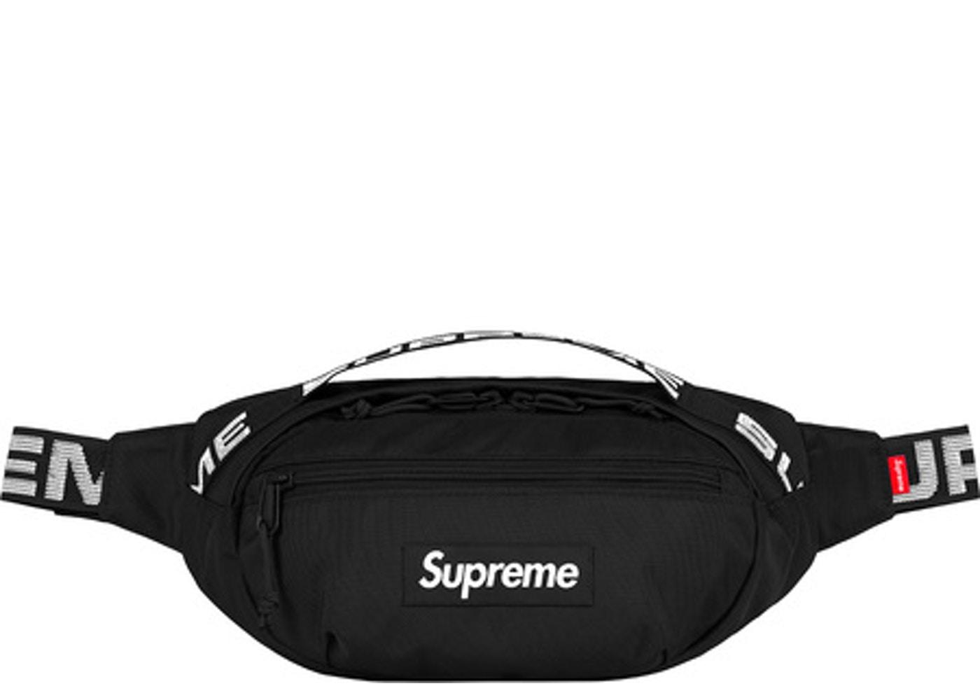 510b5541 Supreme Supreme Waist Bag (ss18) Black   Grailed