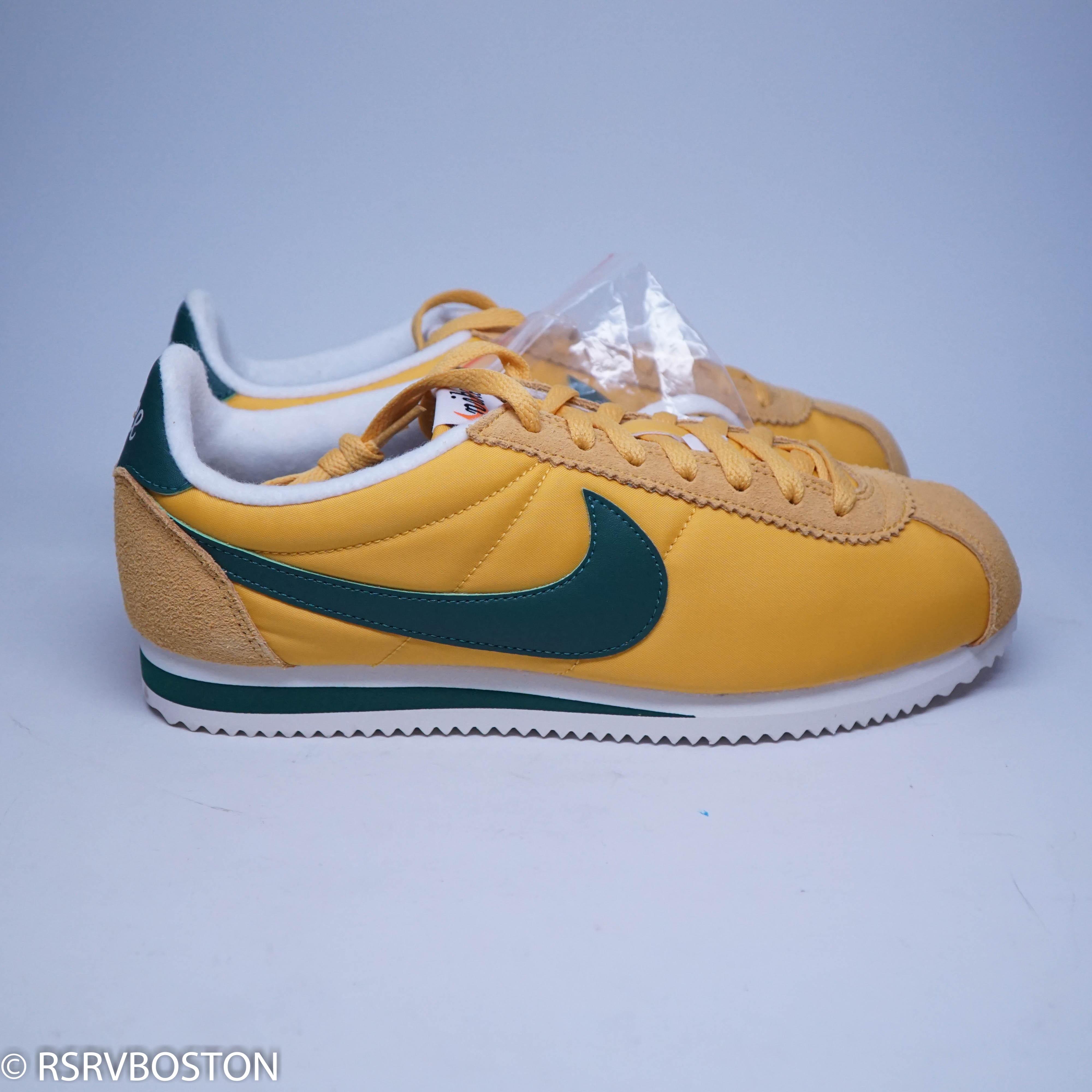 cheaper 6f6db ee07d Nike. Classic Cortez Nylon Premium XLV Oregon Yellow Ochre  Gorge Green-  Sail