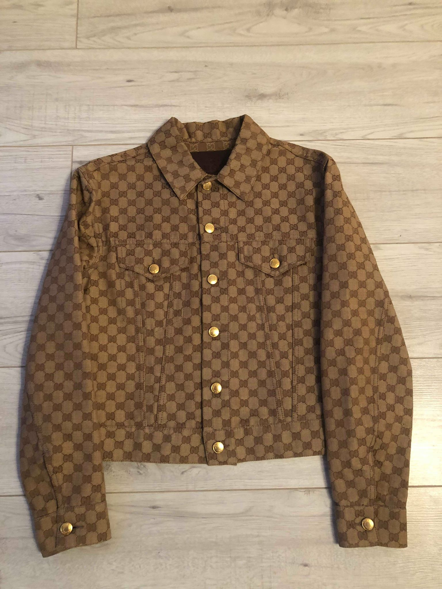 8862b4d32 Gucci Qucik Sale - Ultra Rare Vintage Gucci Gg Monogram Denim Jacket ...
