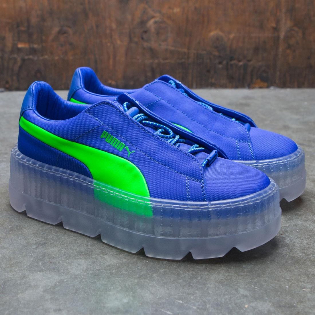 promo code 67d60 50c9d FENTY SURF🔥clear midsole DAZZLING BLUE/GREEN GECKO