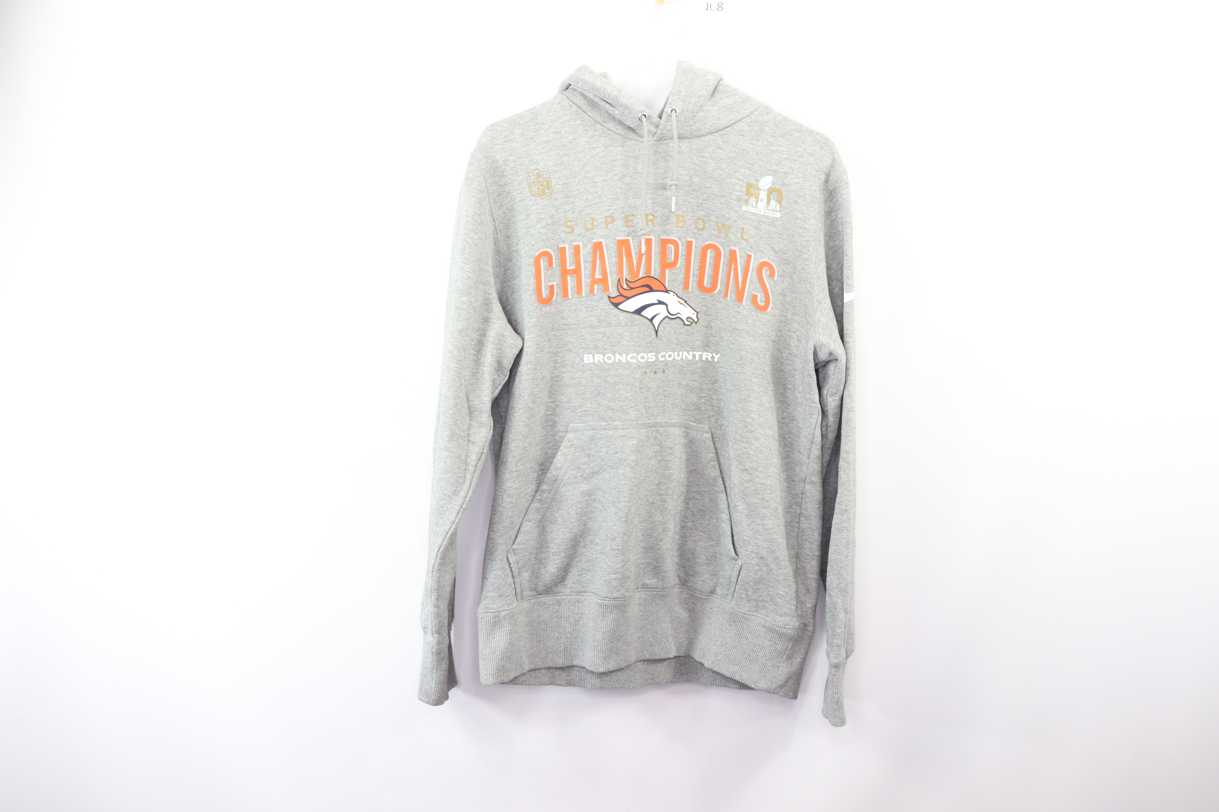 newest collection 576d6 45797 broncos super bowl 50 white hoodie