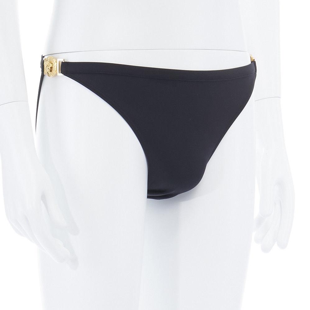 09f2acb3fbbac Versace new VERSACE black gold Medusa head coin medallion embellished swim  trunk briefs L XL Size 34 - Swimwear for Sale - Grailed