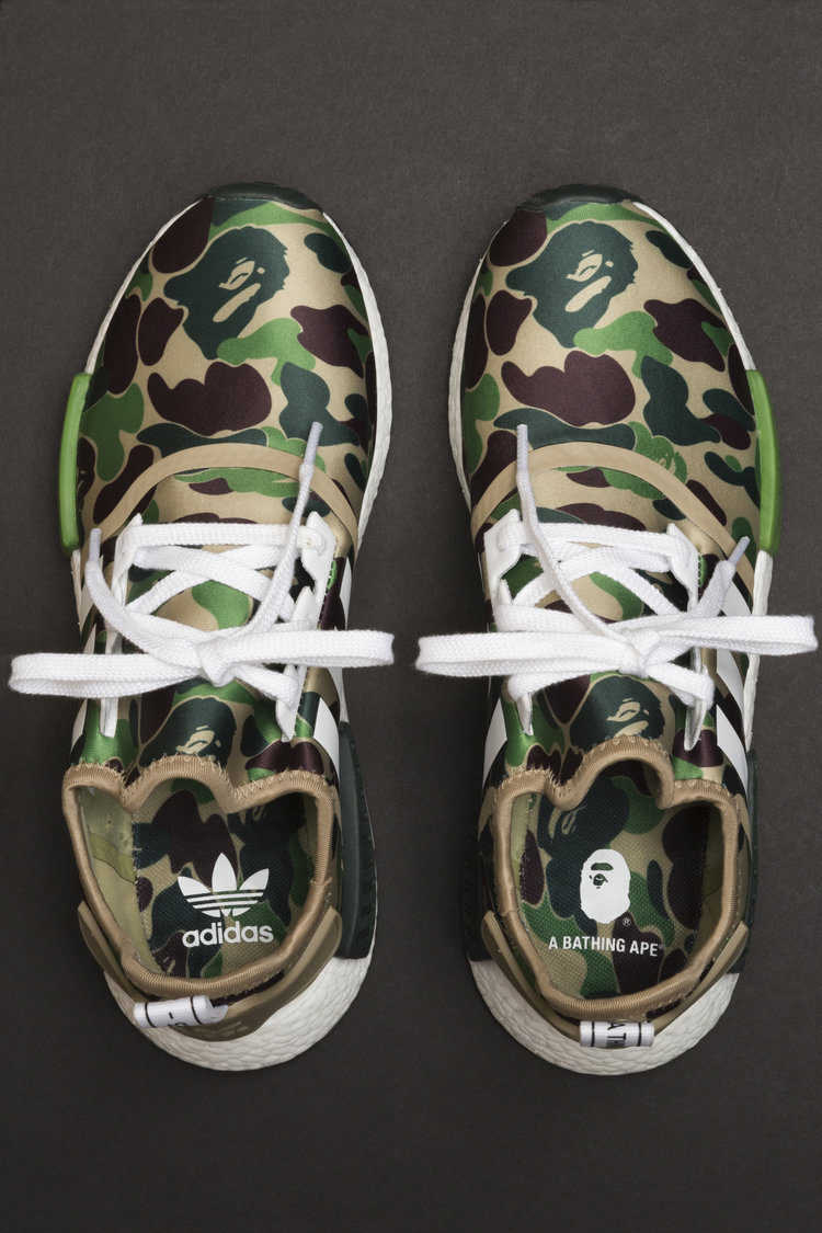 best loved b65fc 64dd8 Adidas Bape x Adidas Nmd R1 Green Camo BA7326 Size 9.5 - Low-Top Sneakers  for Sale - Grailed