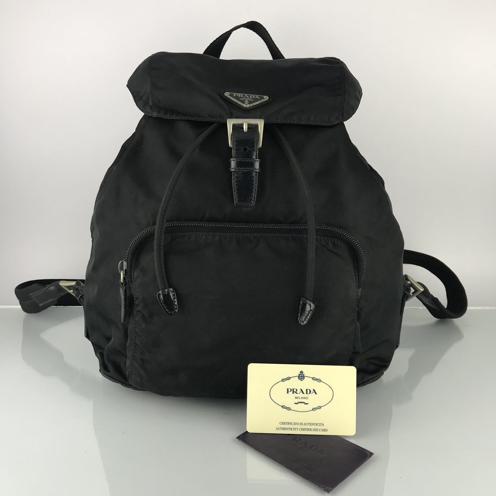 73ff03e328a716 Prada Authentic Vintage Prada Nylon Backpack Bag | Grailed