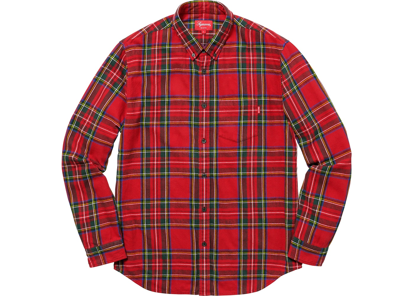 e85d32cb036 Supreme Supreme Tartan Flannel Shirt Red Large