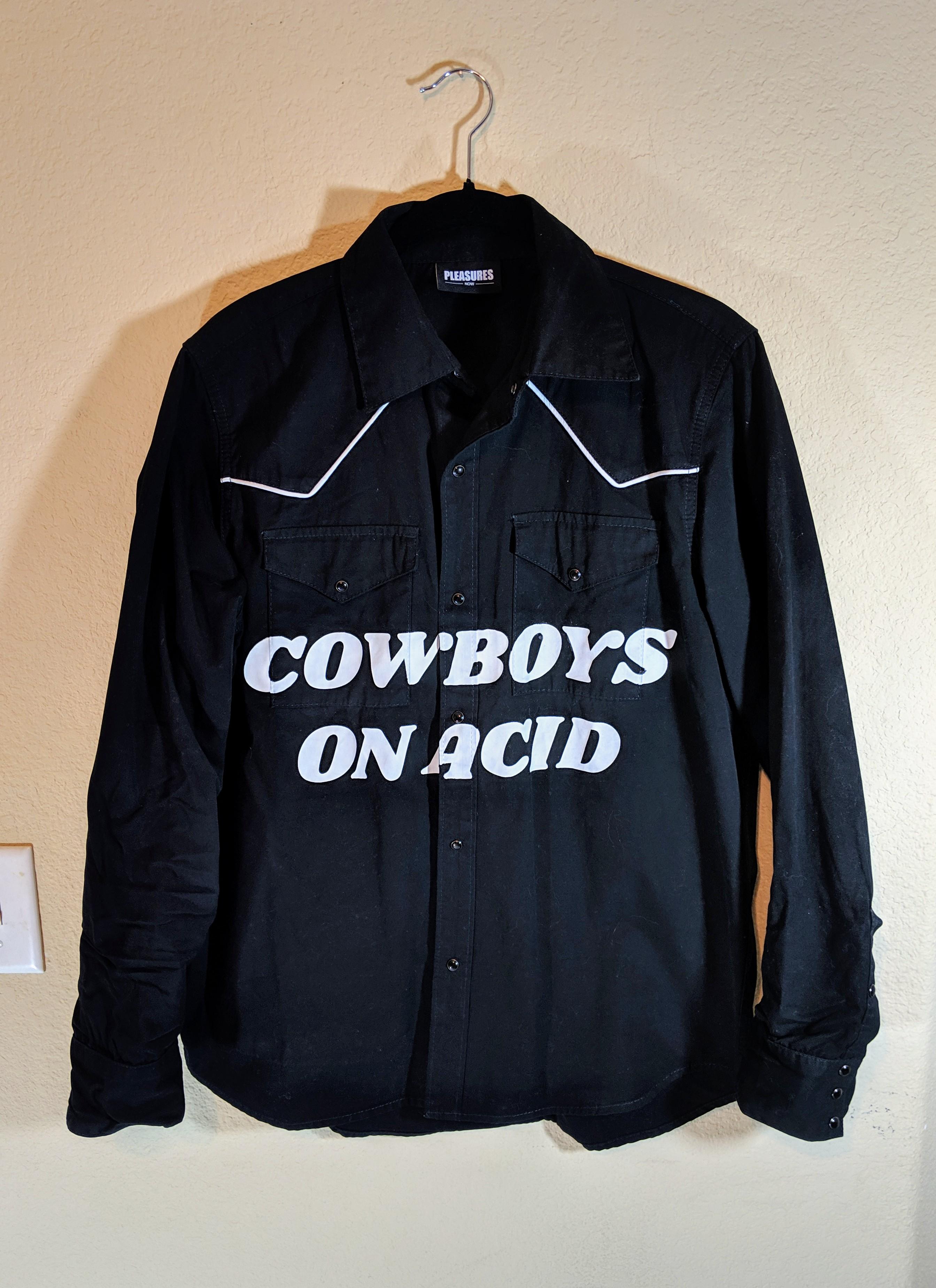 83b18871 Pleasures Pleasures Cowboys On Acid Button Down Western Shirt | Grailed