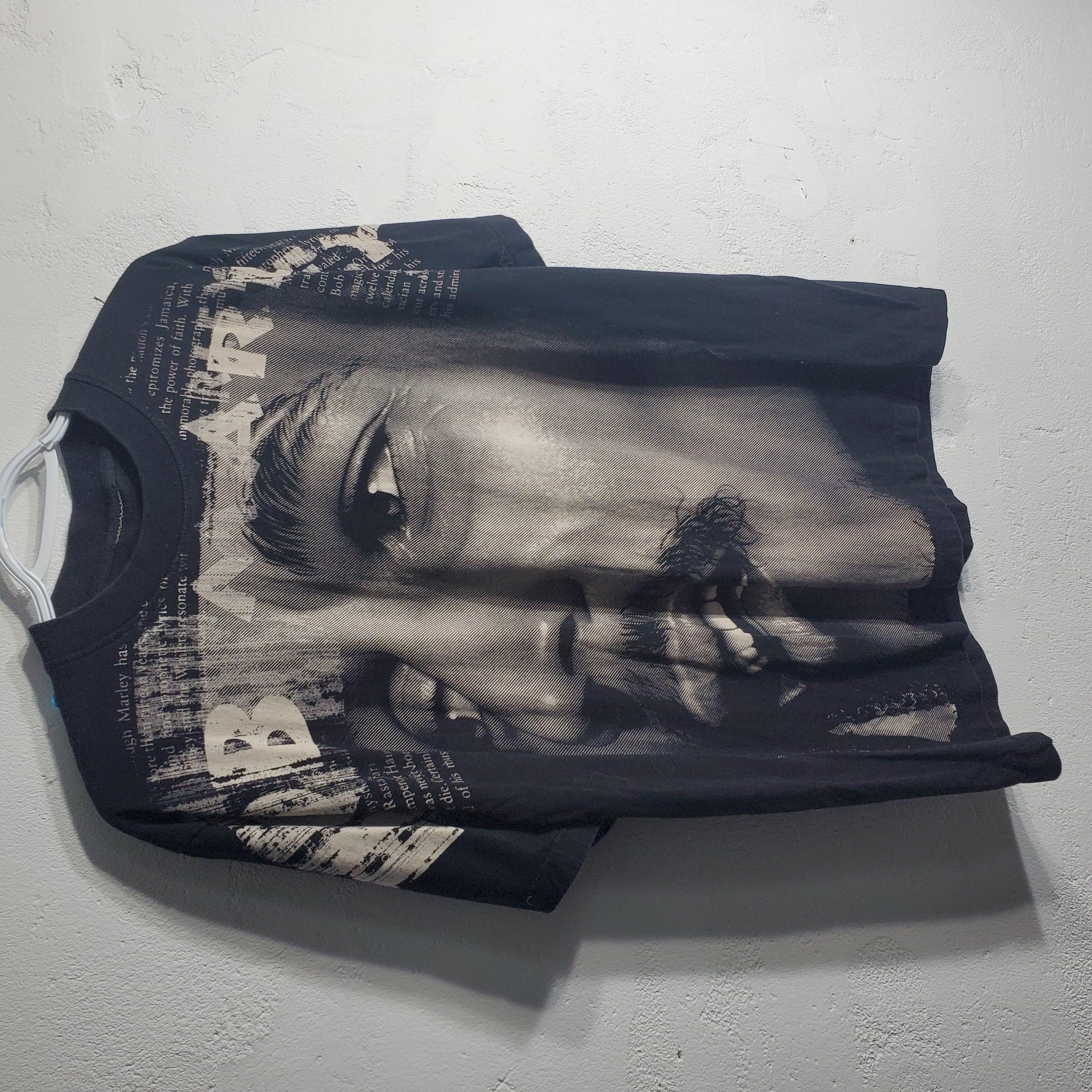 Vintage Y2k Greyscale Face Tee Double Sided Jamaica Artist Icon Aza Grailed