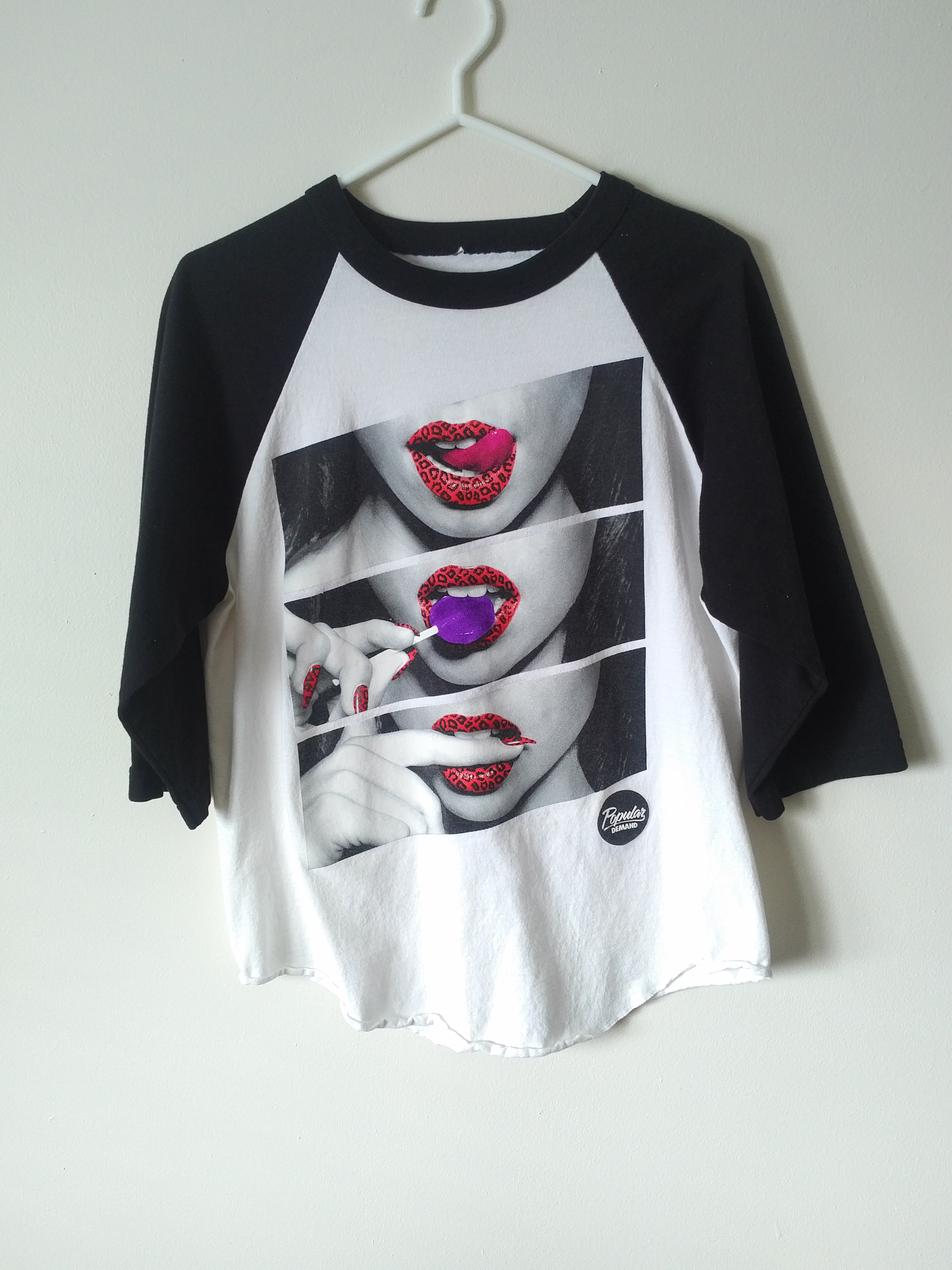 26122886 Popular Demand Popular Demand T-shirt With Lips On It | Grailed