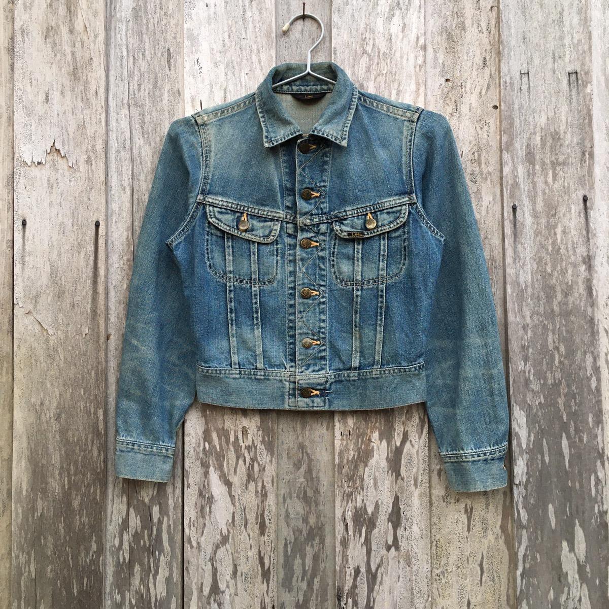 vintage denim jacket  vintage Lee jacket  thrashed denim  1980s distressed Lee Riders oversize denim jacket XL
