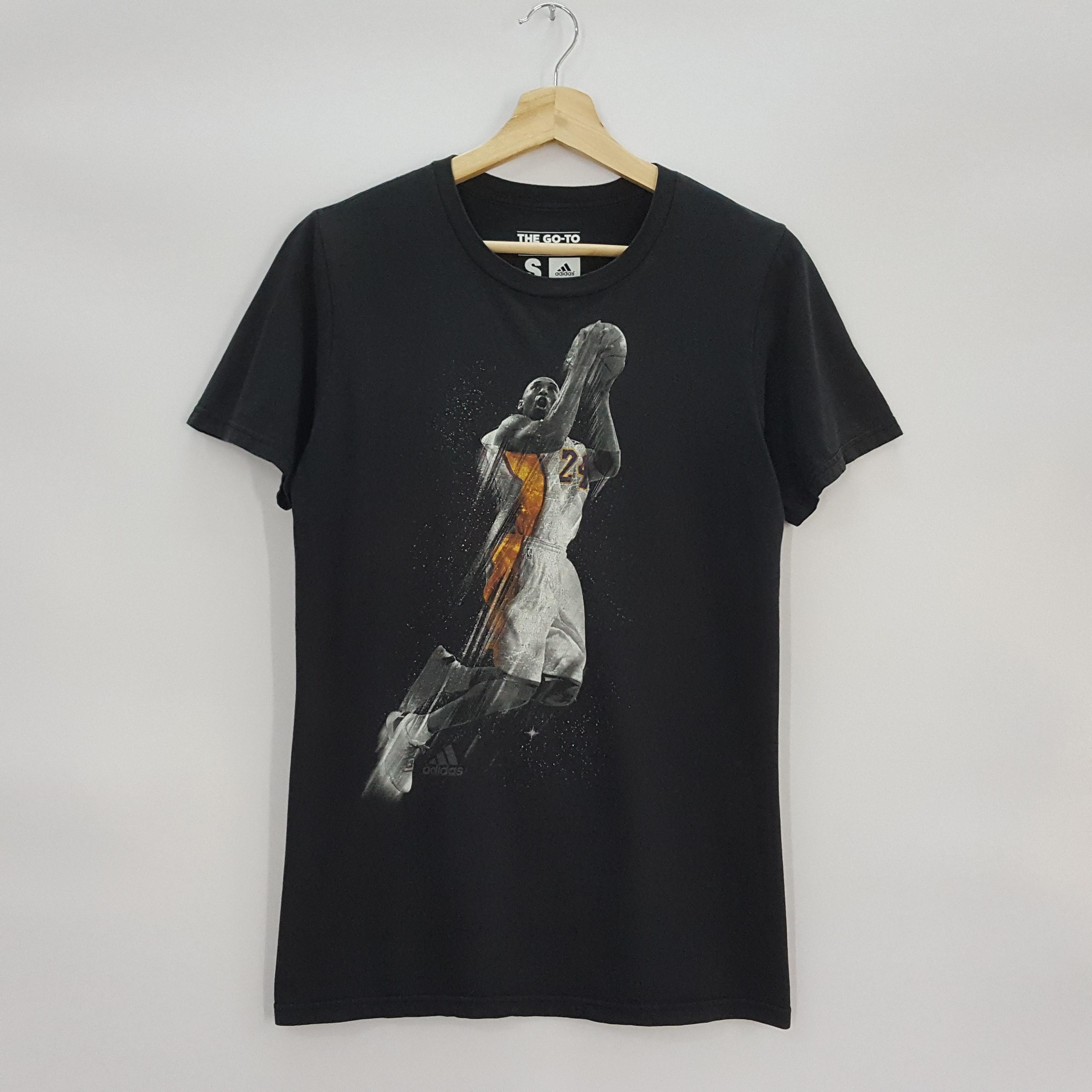 Vintage adidas Kobe Bryant Lakers nice design t shirt