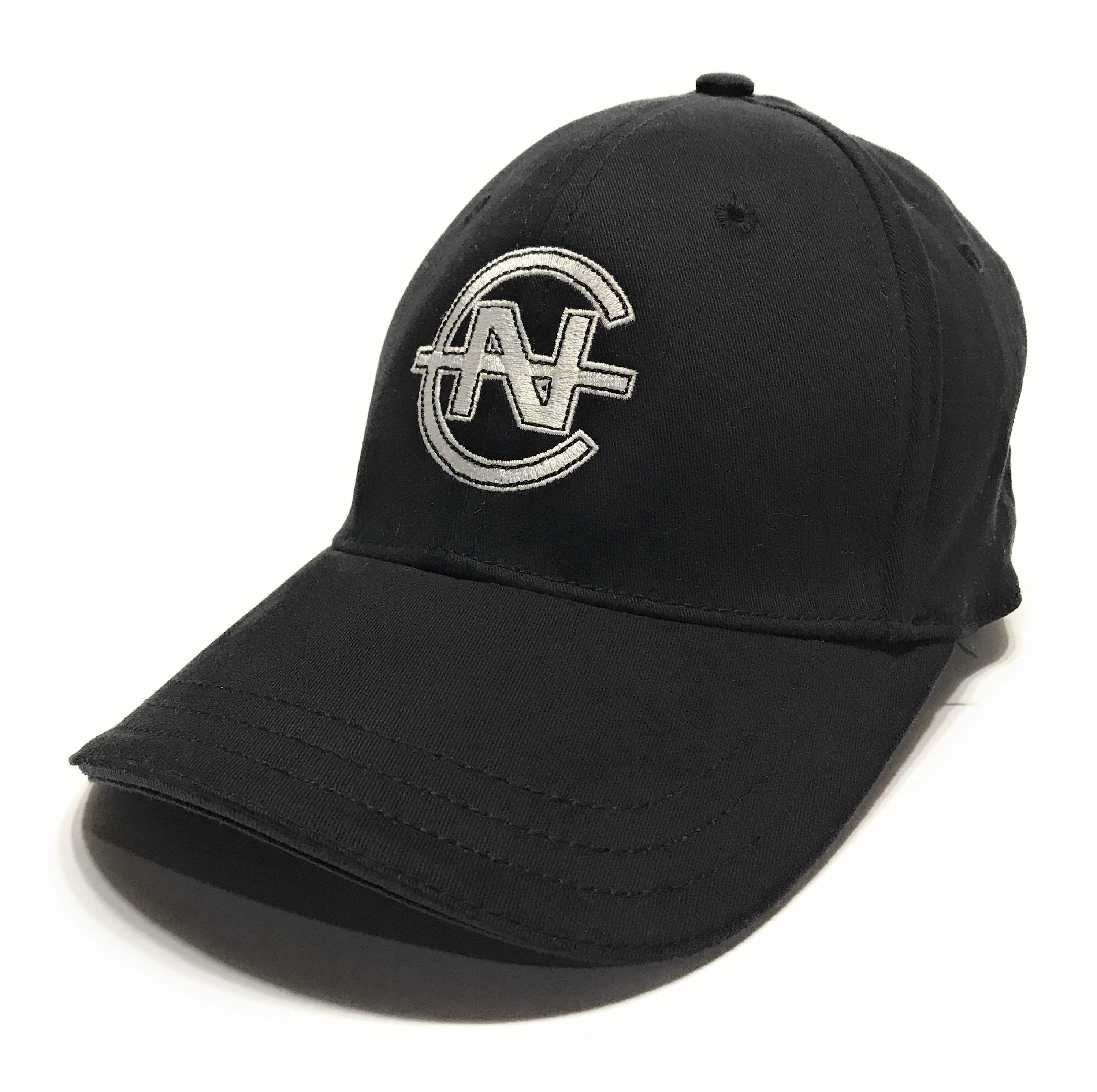 70e93d170 Nautica Competition Logo Black Fitted Baseball Cap Hat