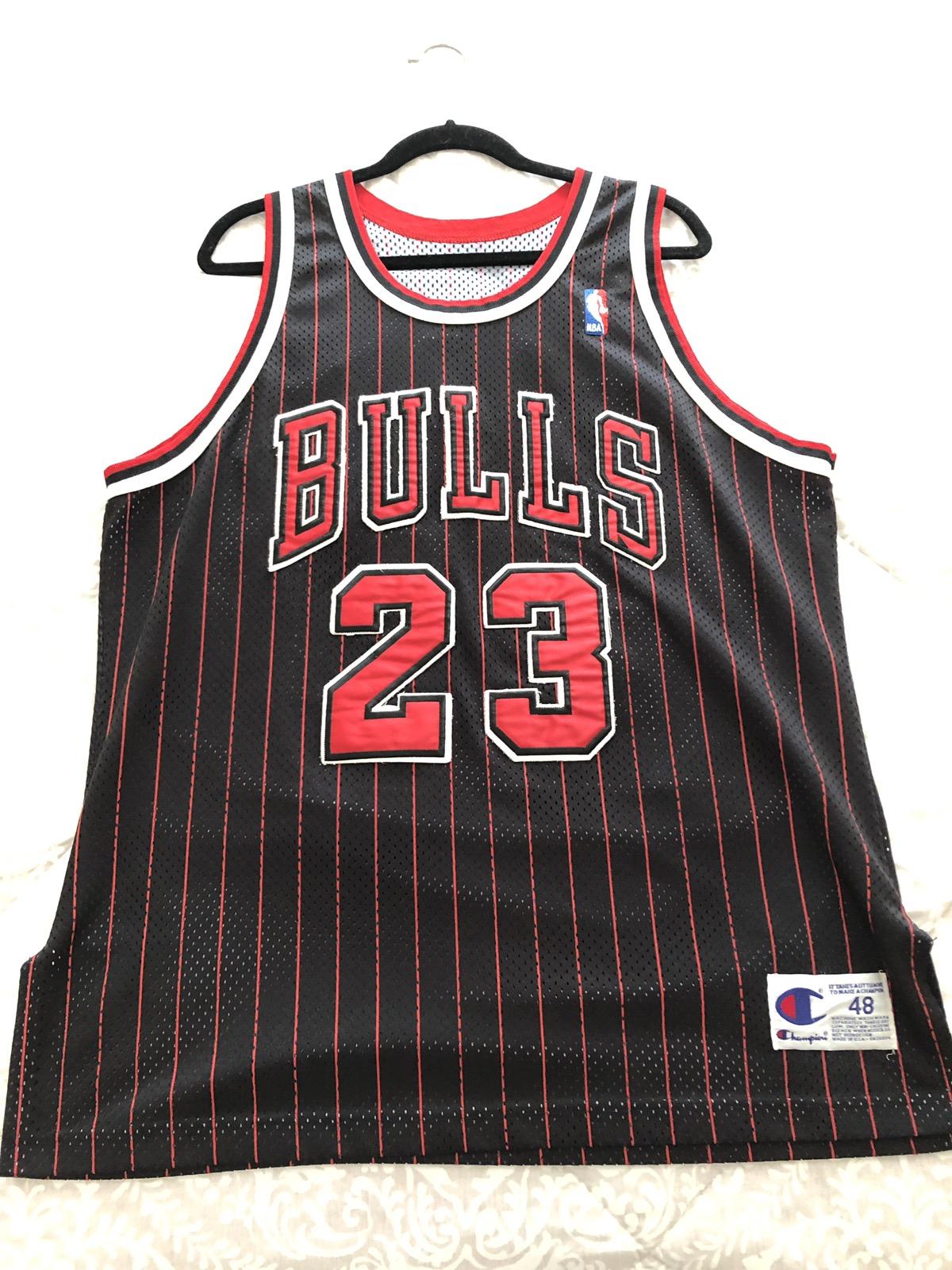 big sale 5f752 7a479 Vintage authentic champion Michael Jordan pinstripe jersey