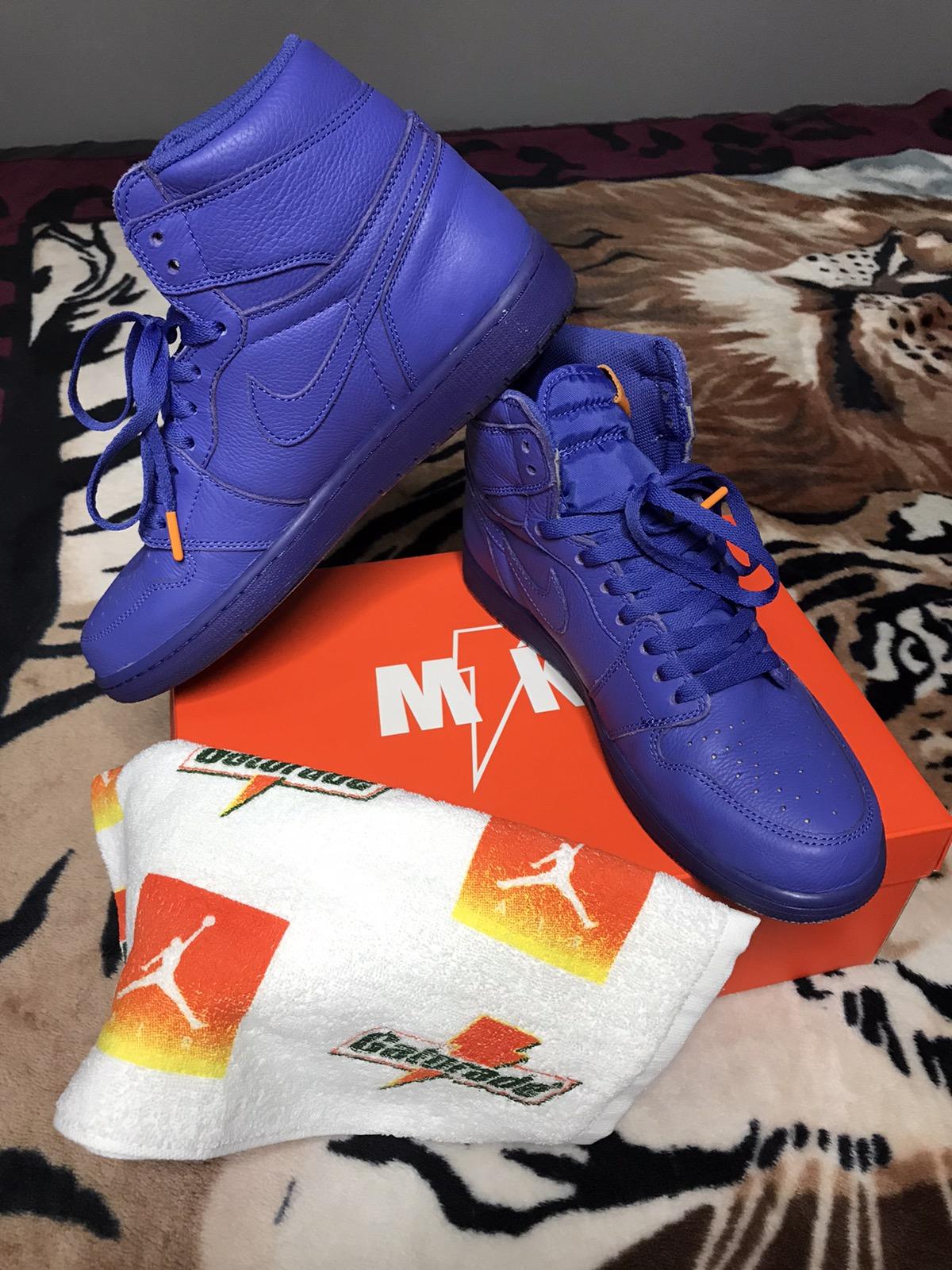 Nike Air Jordan 1 Retro High OG G8RD Rush Violet Gatorade Pack