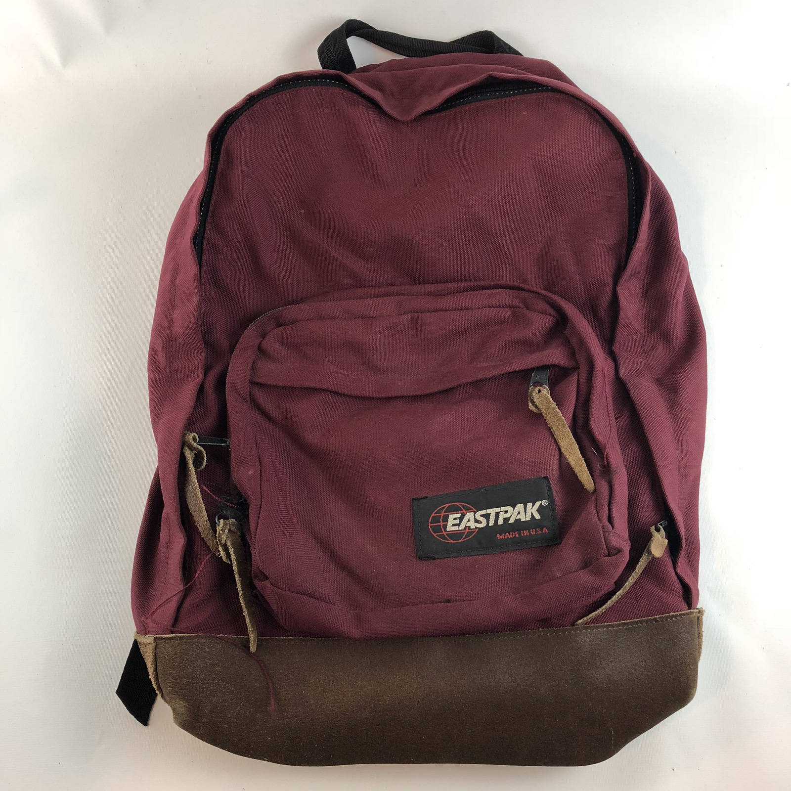 942a9feead3d Vintage Eastpak Maroon Red Backpack Similar To Back To The Future Marty 0