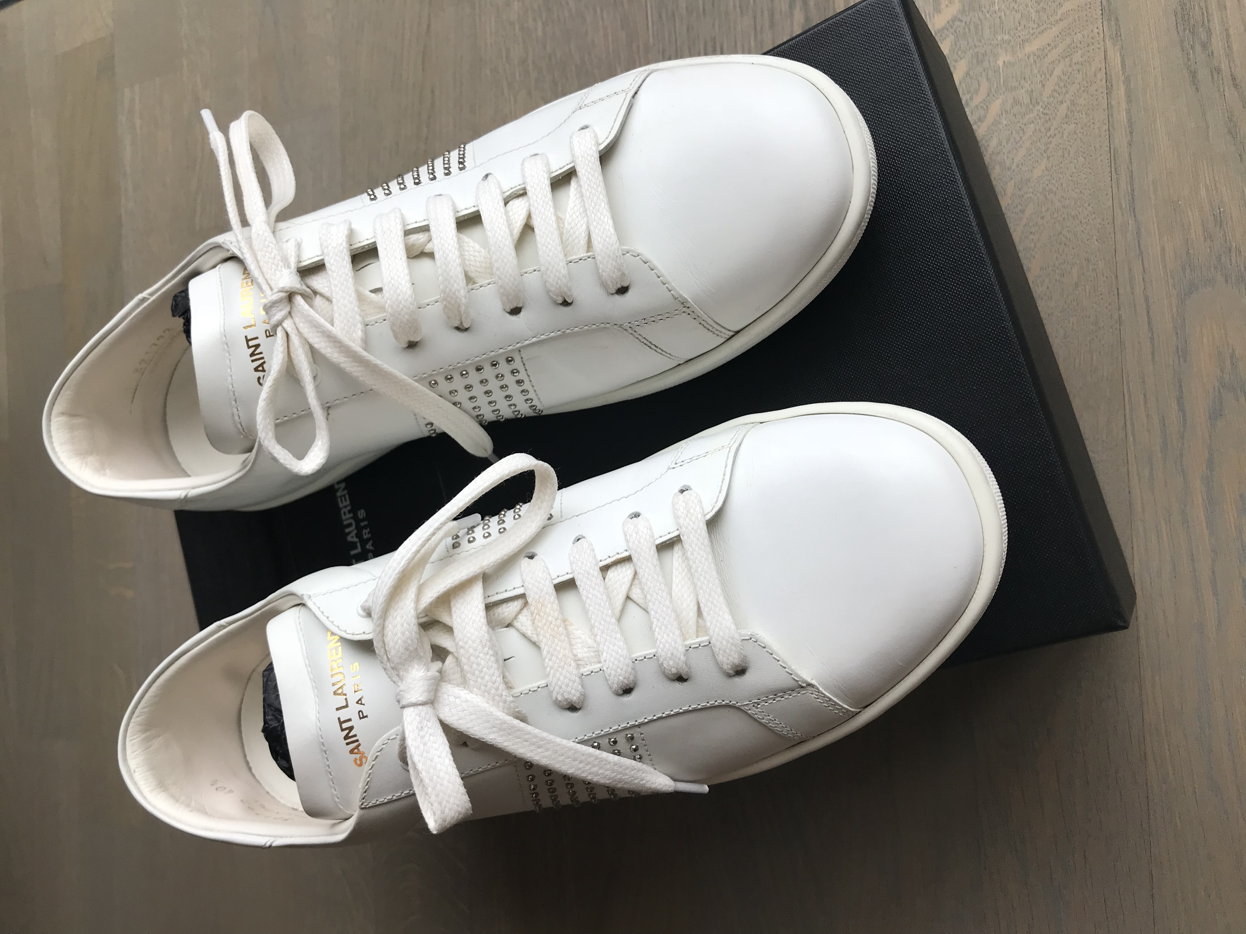 cd79f4677ab Saint Laurent Paris Hedi Slimane / Size 40.5 / With Box / Extra Shoe Laces  / Leather With Metal Rivets / Made In Italy / Hedi Slimane / Unisex |  Grailed