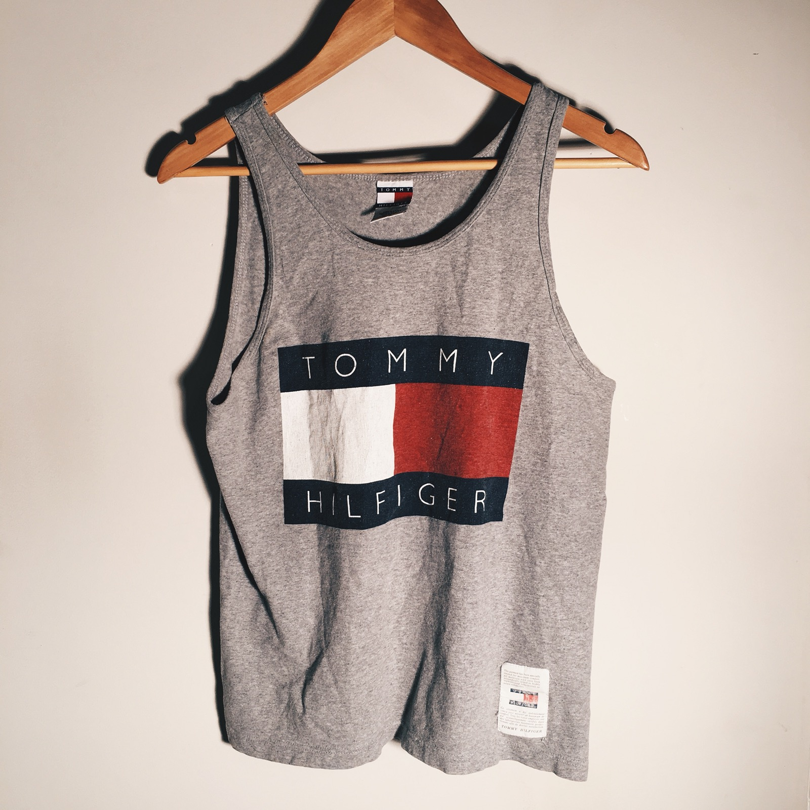 242fbdbd3df90 Tommy Hilfiger Vintage Tommy Hilfiger Big Flag Tank Top Size s - Tank Tops    Sleeveless for Sale - Grailed