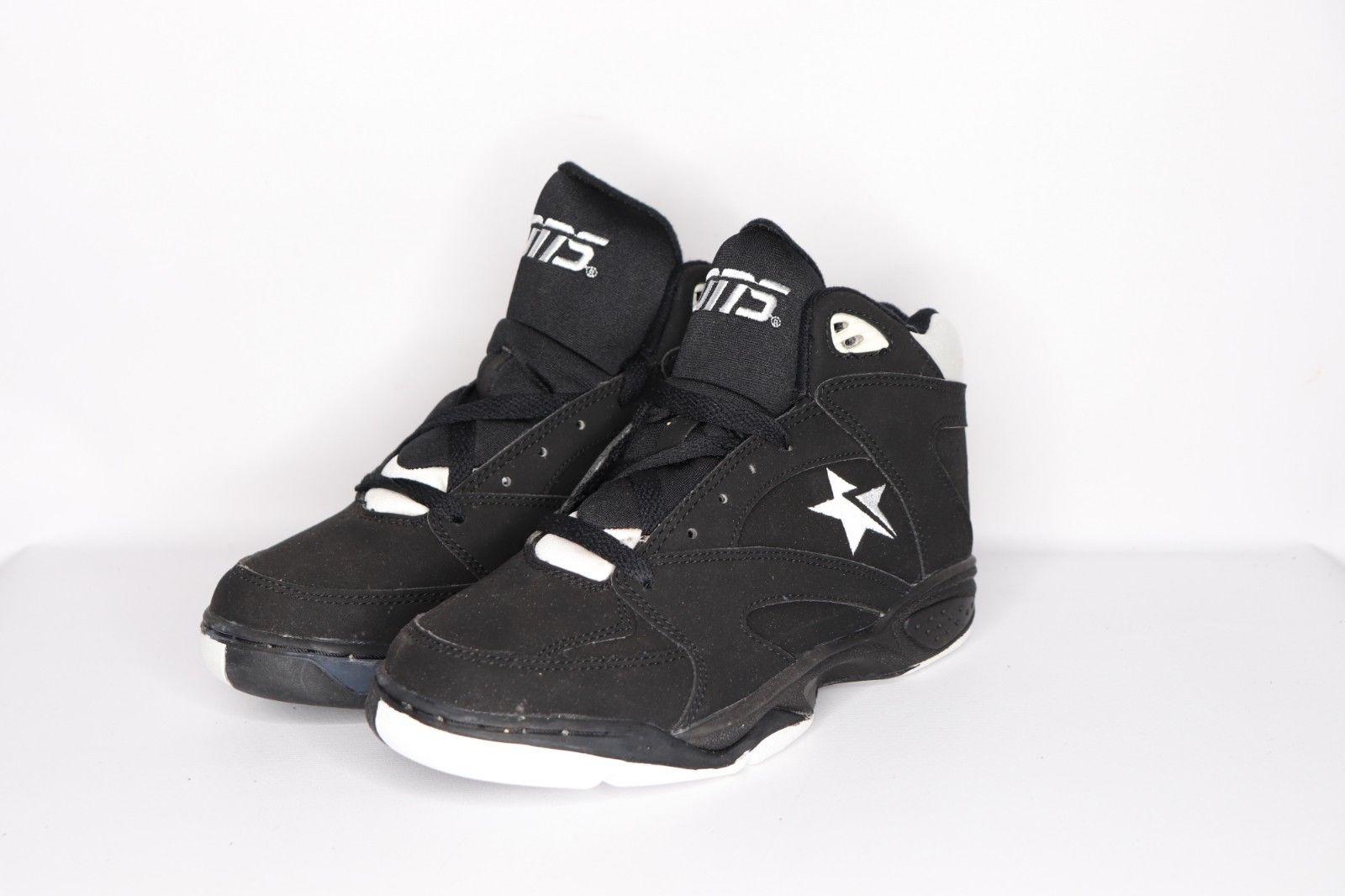 Vintage Vintage 90s New Converse Mens Size 6 Merit Mid Cons Basketball Shoes Black White
