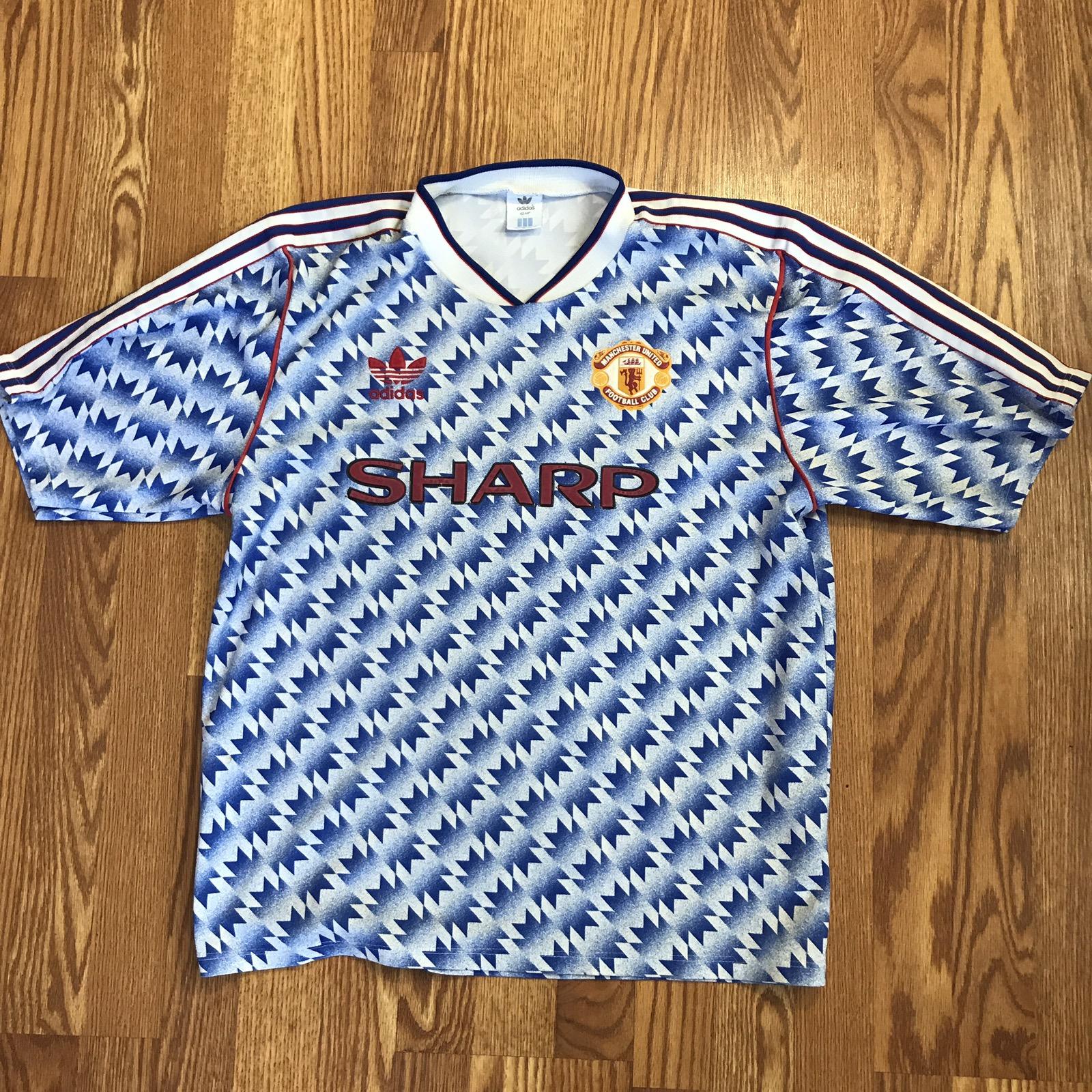 half off e37dc f4ece Rare Manchester United Away Jersey 1990 91 92