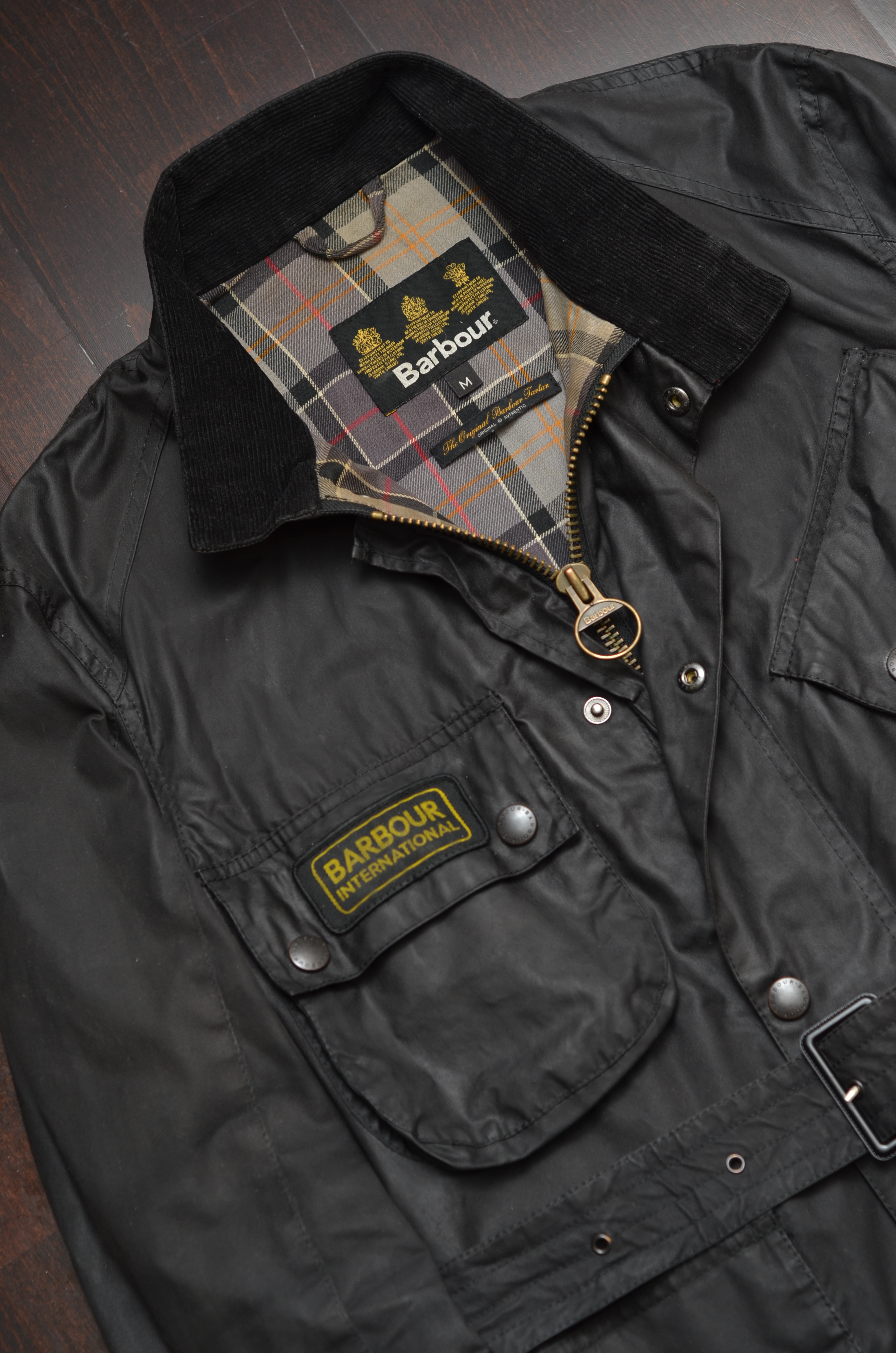 barbour international waxed jacket