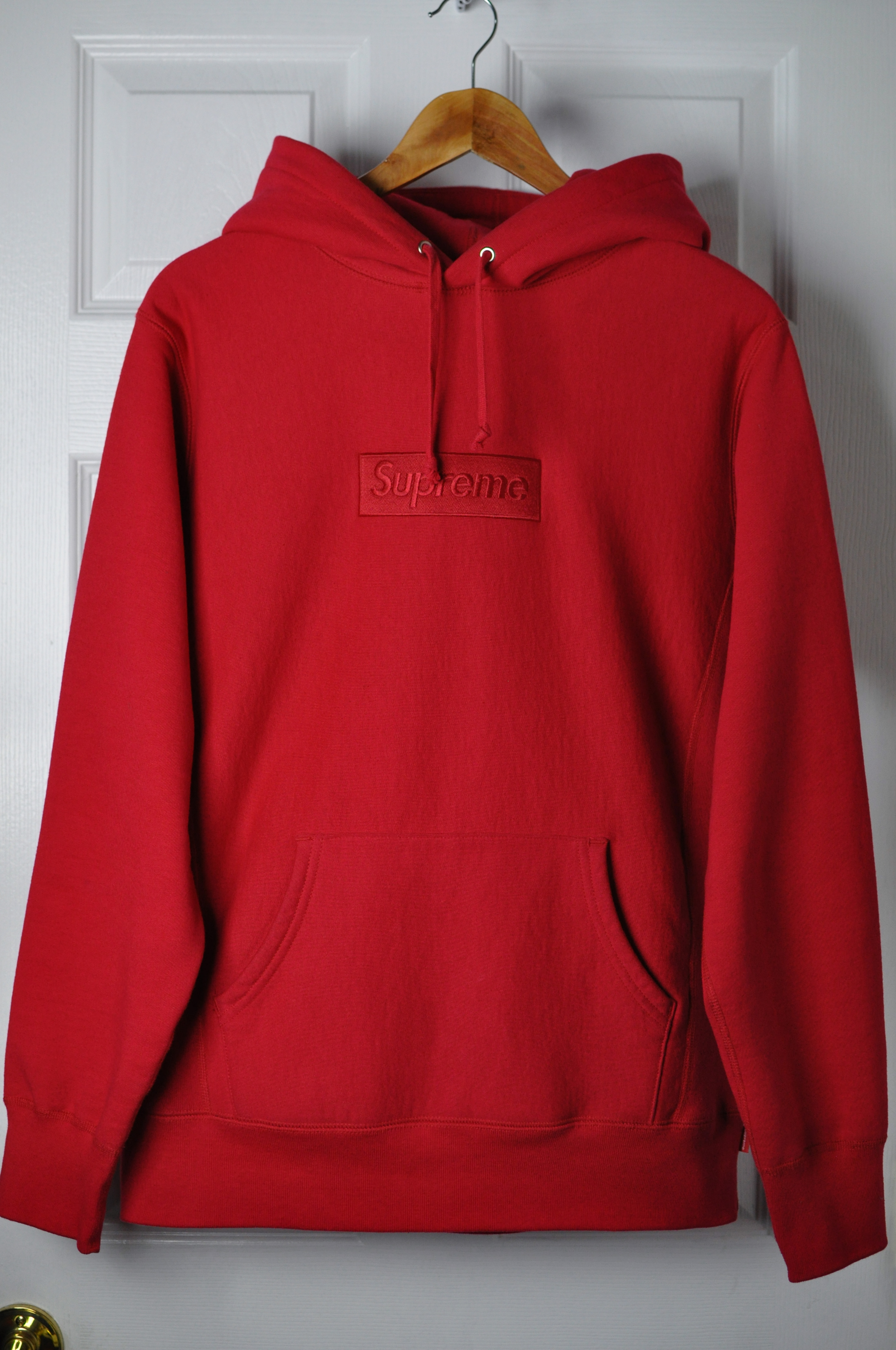 limited sale fashion styles search for latest F/W 2014 Red Tonal Box Logo Hoodie