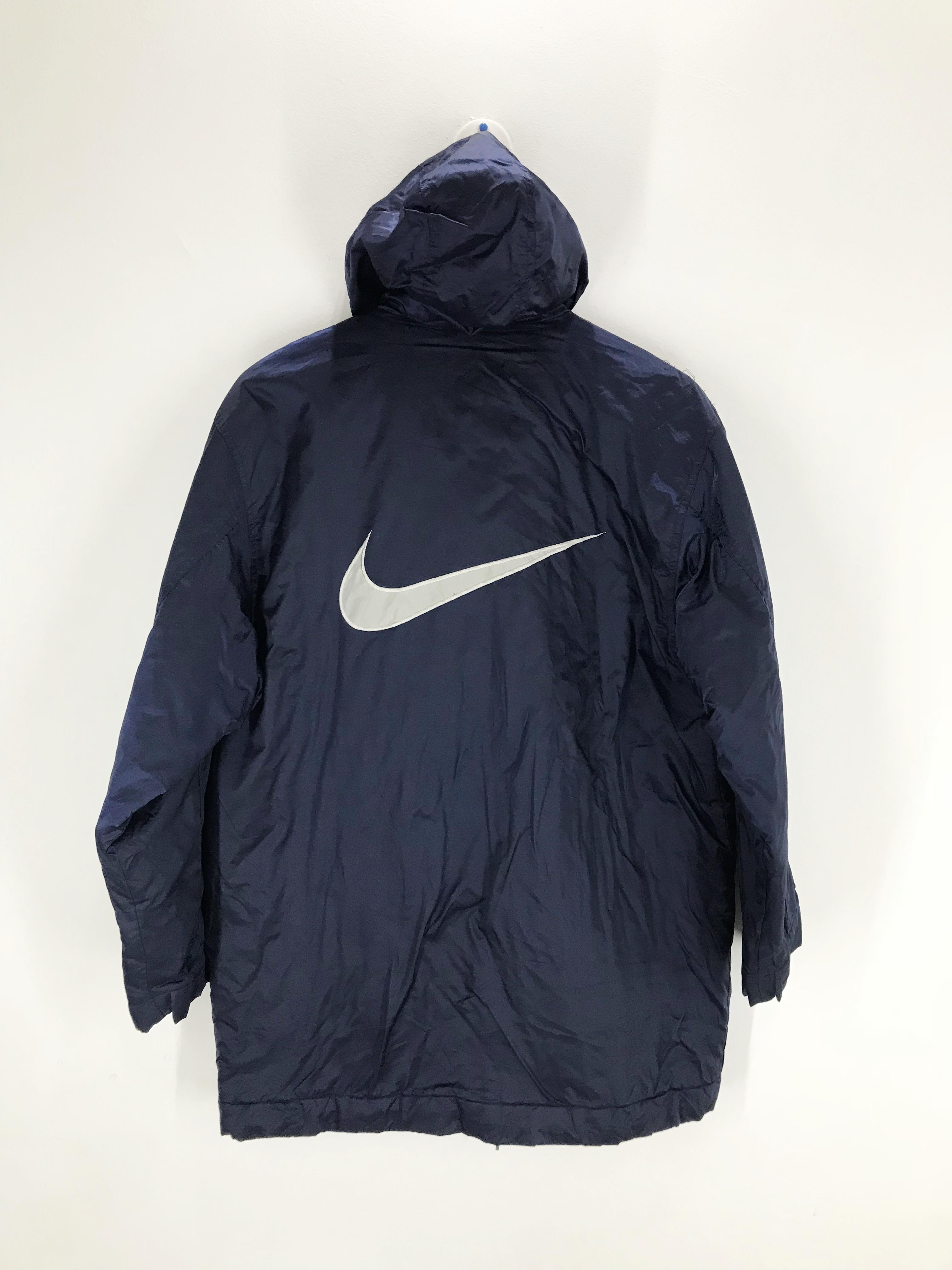 1a55fca6a6 Nike Vintage Nike Swoosh Drawstring Hoodie Long Jacket | Grailed