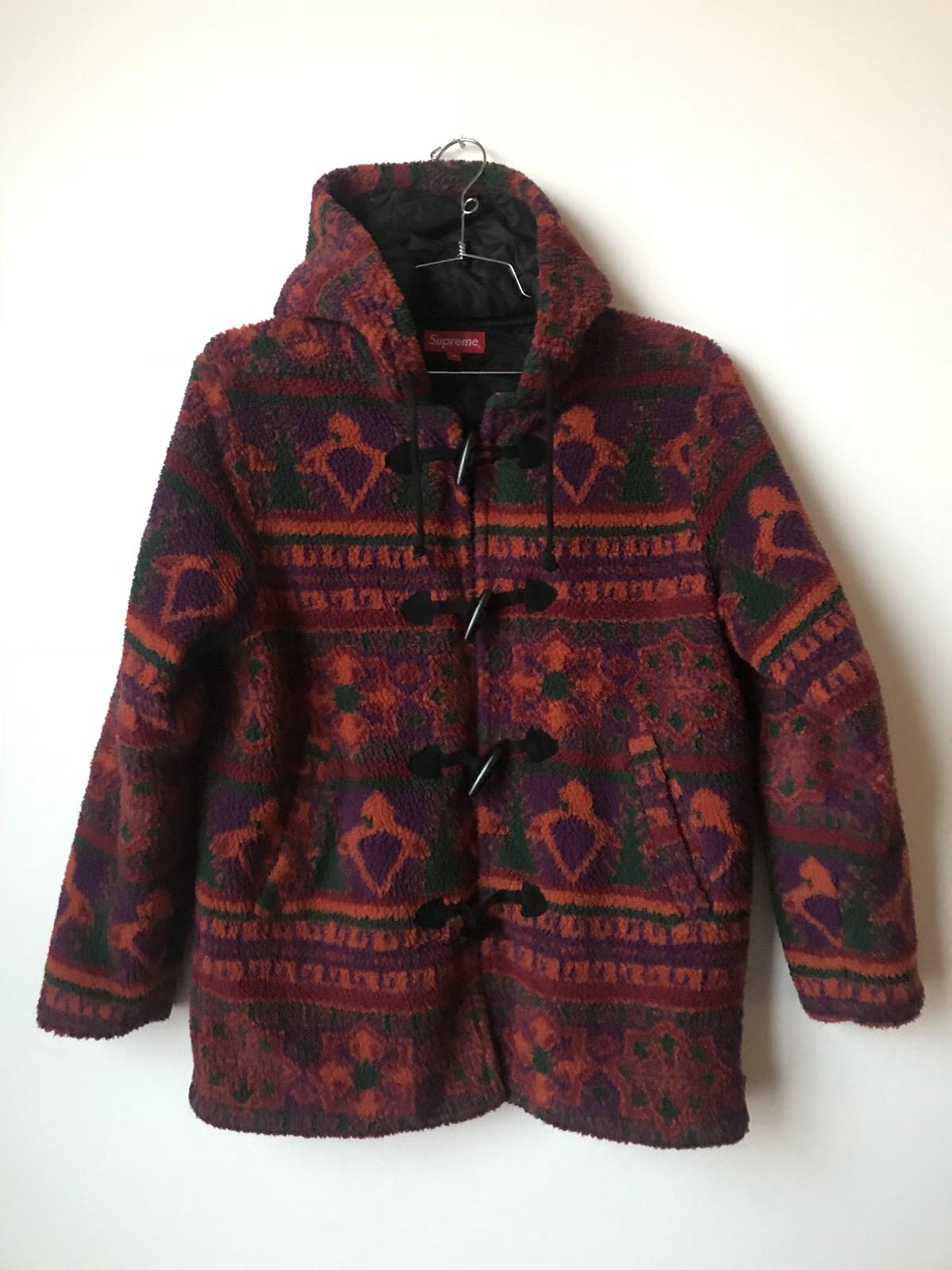 dcb67b836 Supreme Sherpa Fleece Toggle Jacket Coat Magenta Parka