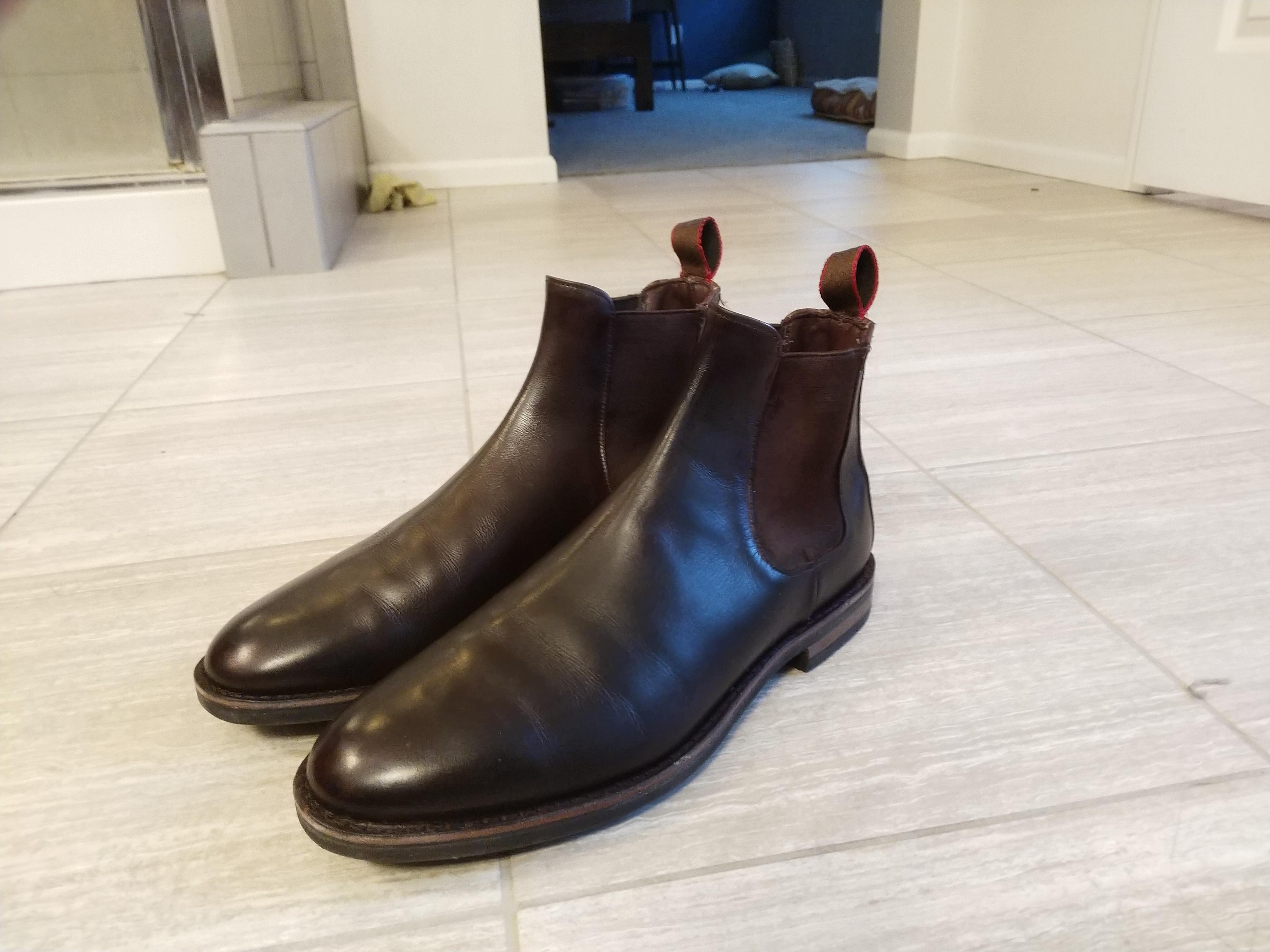 durable modeling classic classic fit Allen Edmonds Nomad Chelsea Boots 9 *read description*