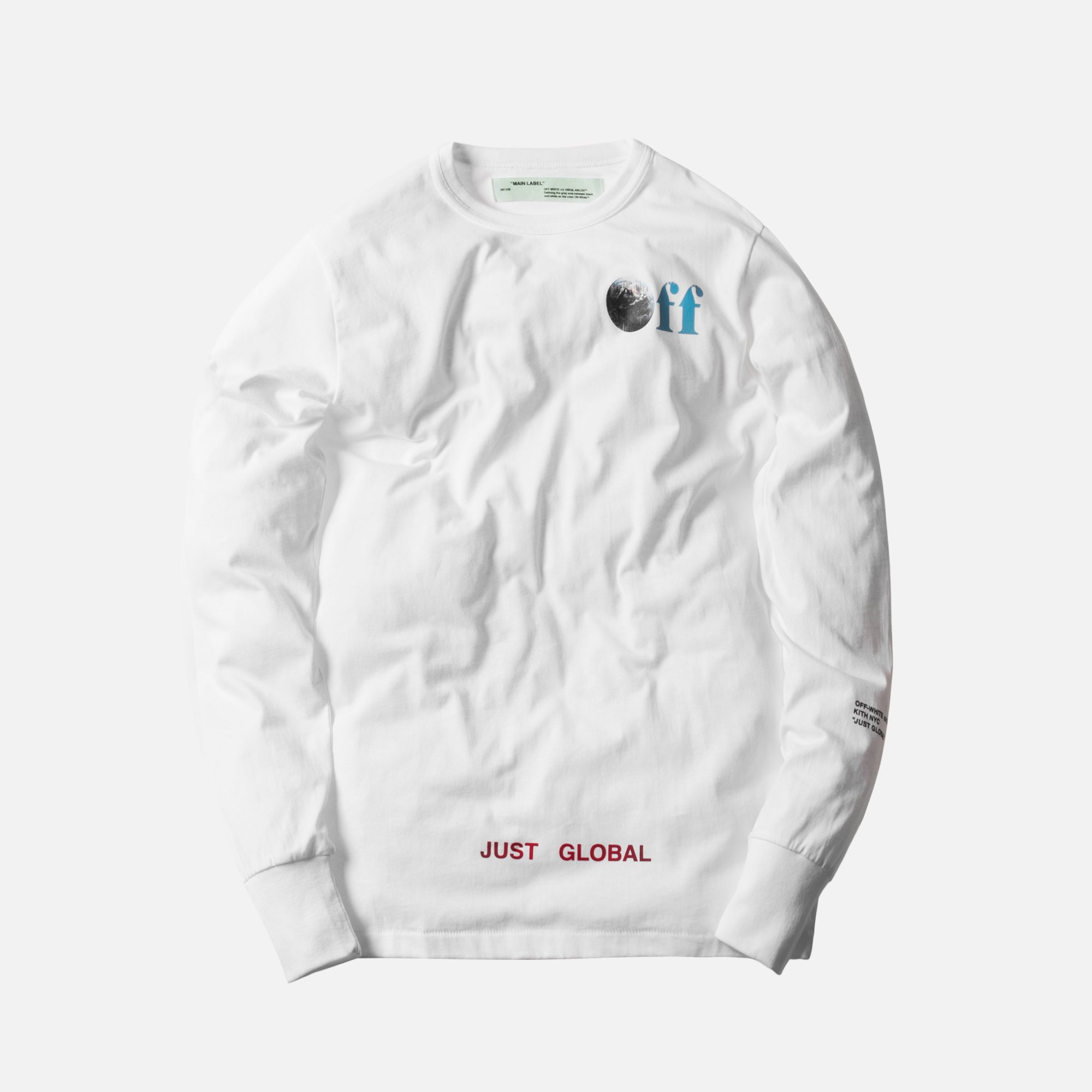 086423422f9e Off-White Kith x Off-White Just Global L S Tee Size xl - Long Sleeve ...
