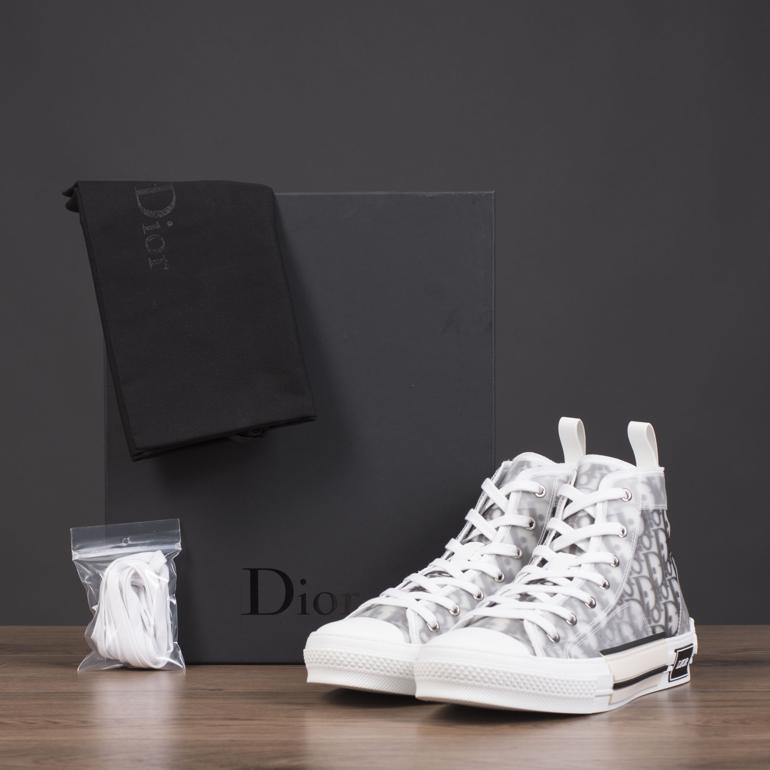 aa74c7371eaf21 Dior ×. Dior x Kaws B23 High Top Sneakers In Dior Oblique