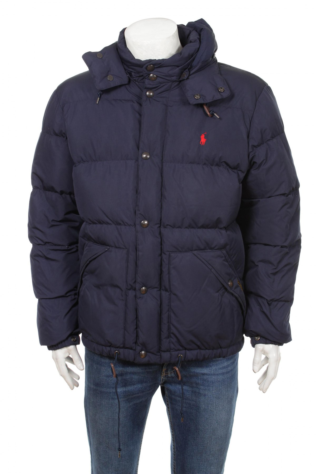 Polo Ralph Lauren Mens Elmwood Down Quilted Winter Puffer Jacket Blue