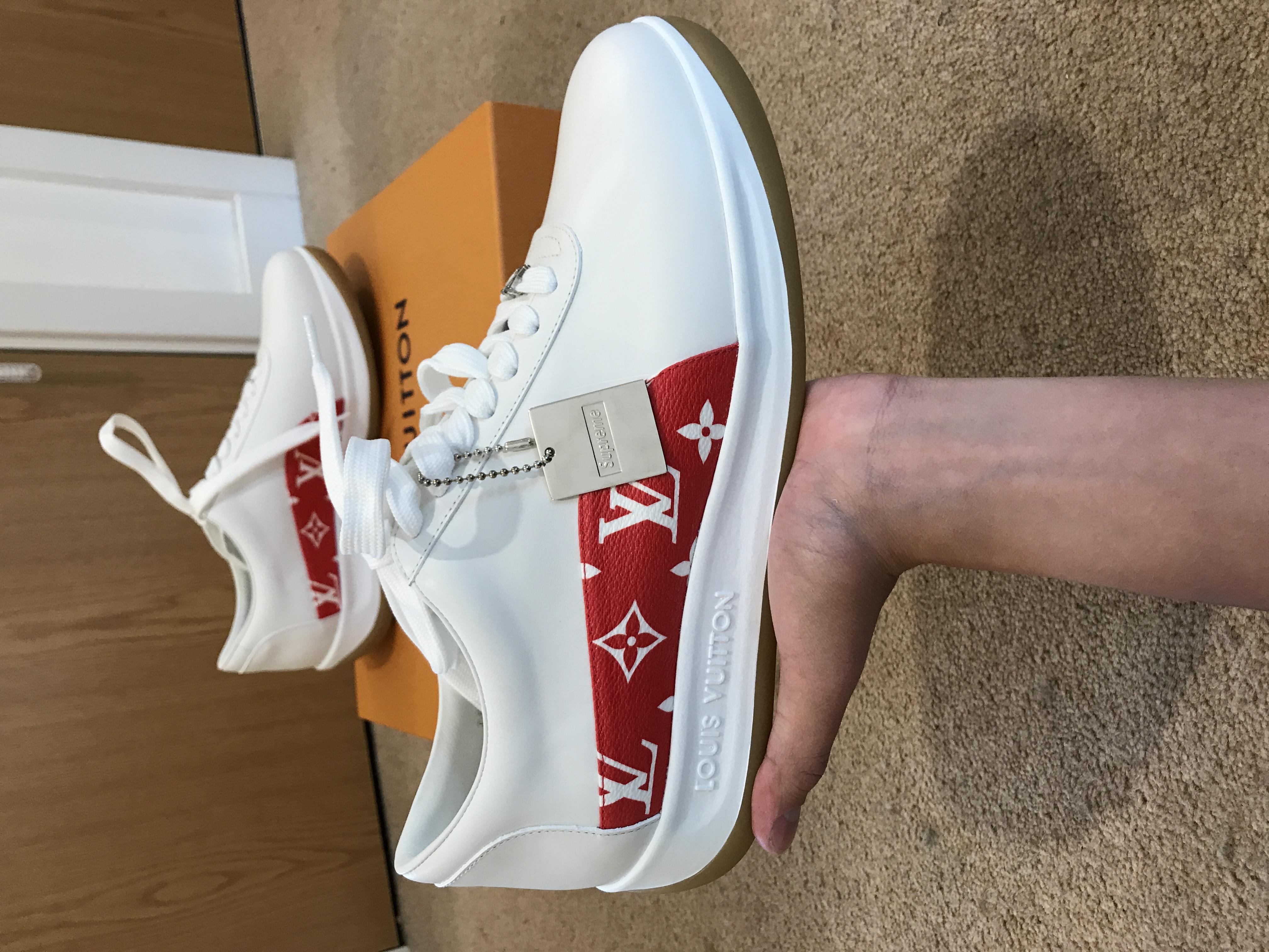 bb96a6bfac1d6e Supreme Supreme X Louis Vuitton White   Red Sport Sneaker !! 100% Legit !!  Deadstock Worldwide !