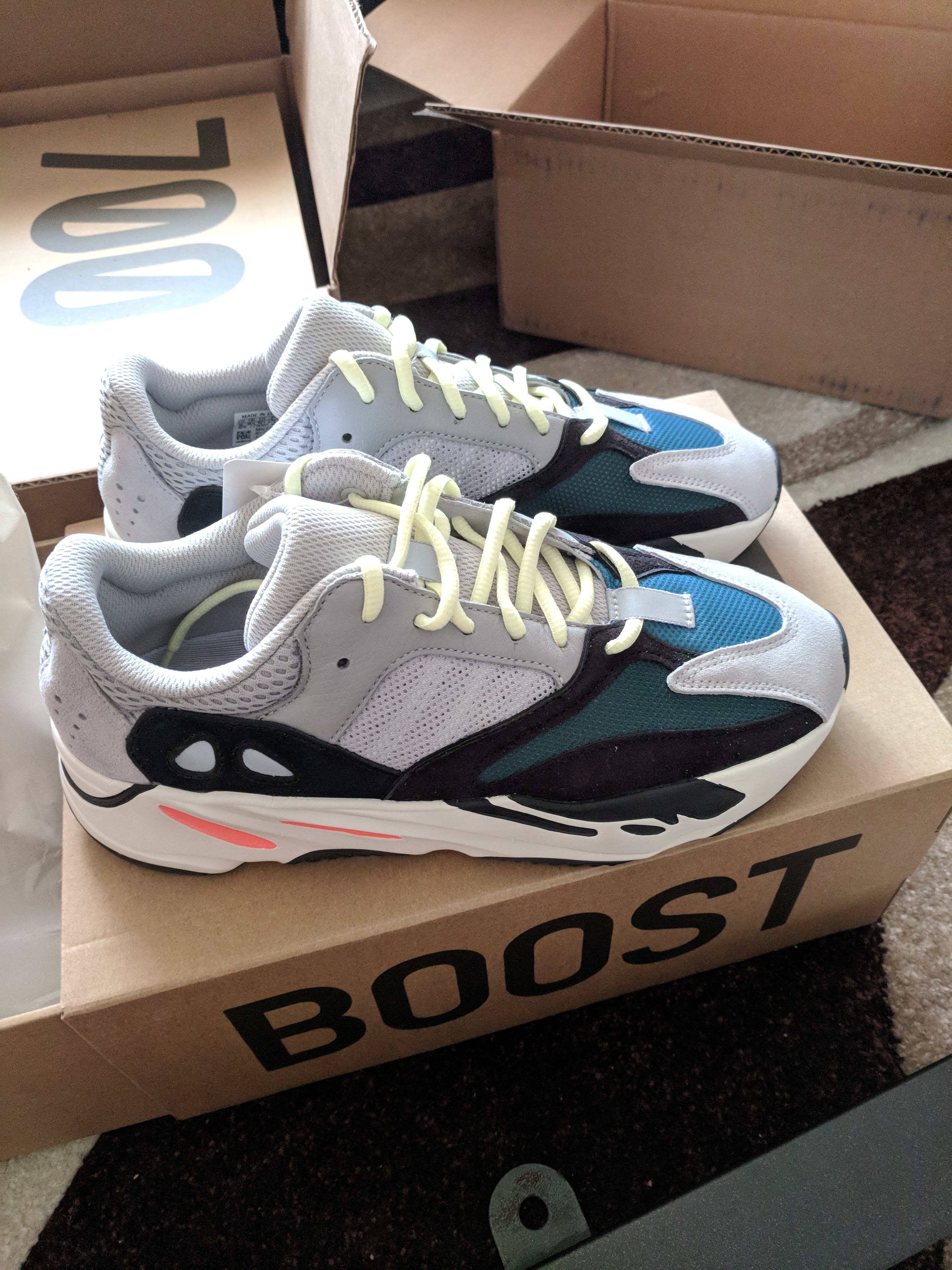 9e3d2b19364f0 Yeezy Boost ×. adidas Yeezy Wave Runner 700 Solid Grey DEADSTOCK