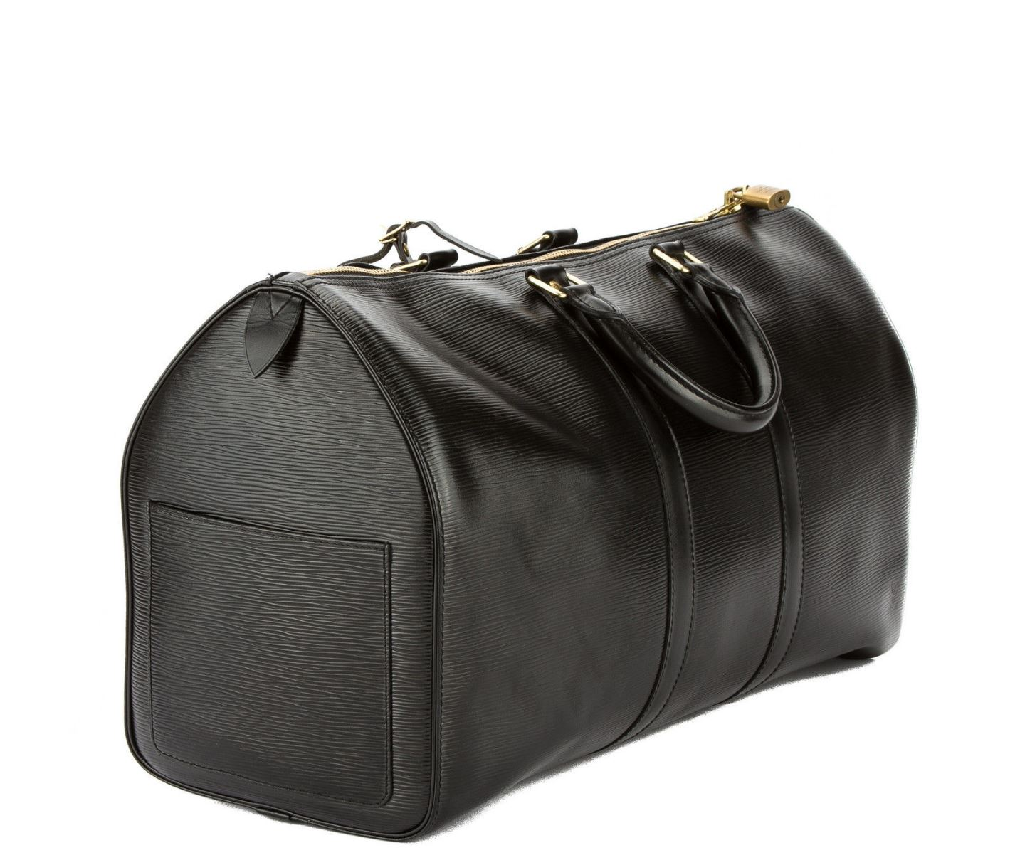 Louis Vuitton Authentic Louis Vuitton Keepall 45 in Epi Leather Black Noir  Travel Size TSA Cabin Carry-On Approved Overnight Weekend Travel Luggage  Boston ... 2e0b819eddb95