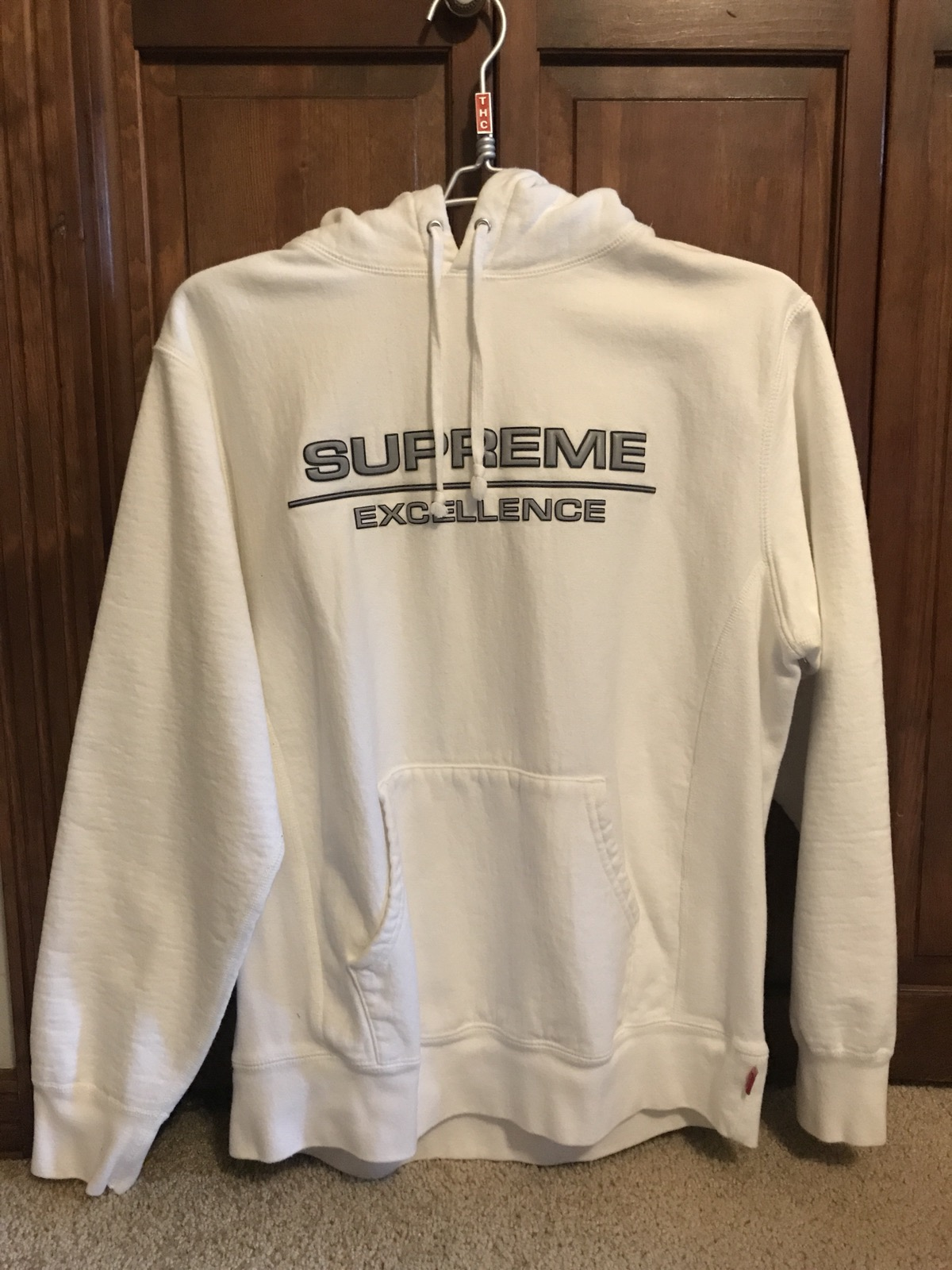 Supreme Supreme Reflective Excellence Hoodie White [ 1600 x 1200 Pixel ]