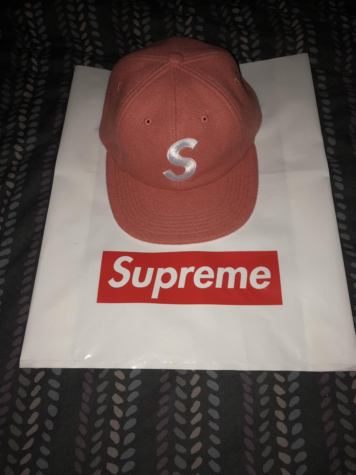 c070bd04995 Supreme Fw17 Wool S-logo 6 Panel Dark Pink Hat