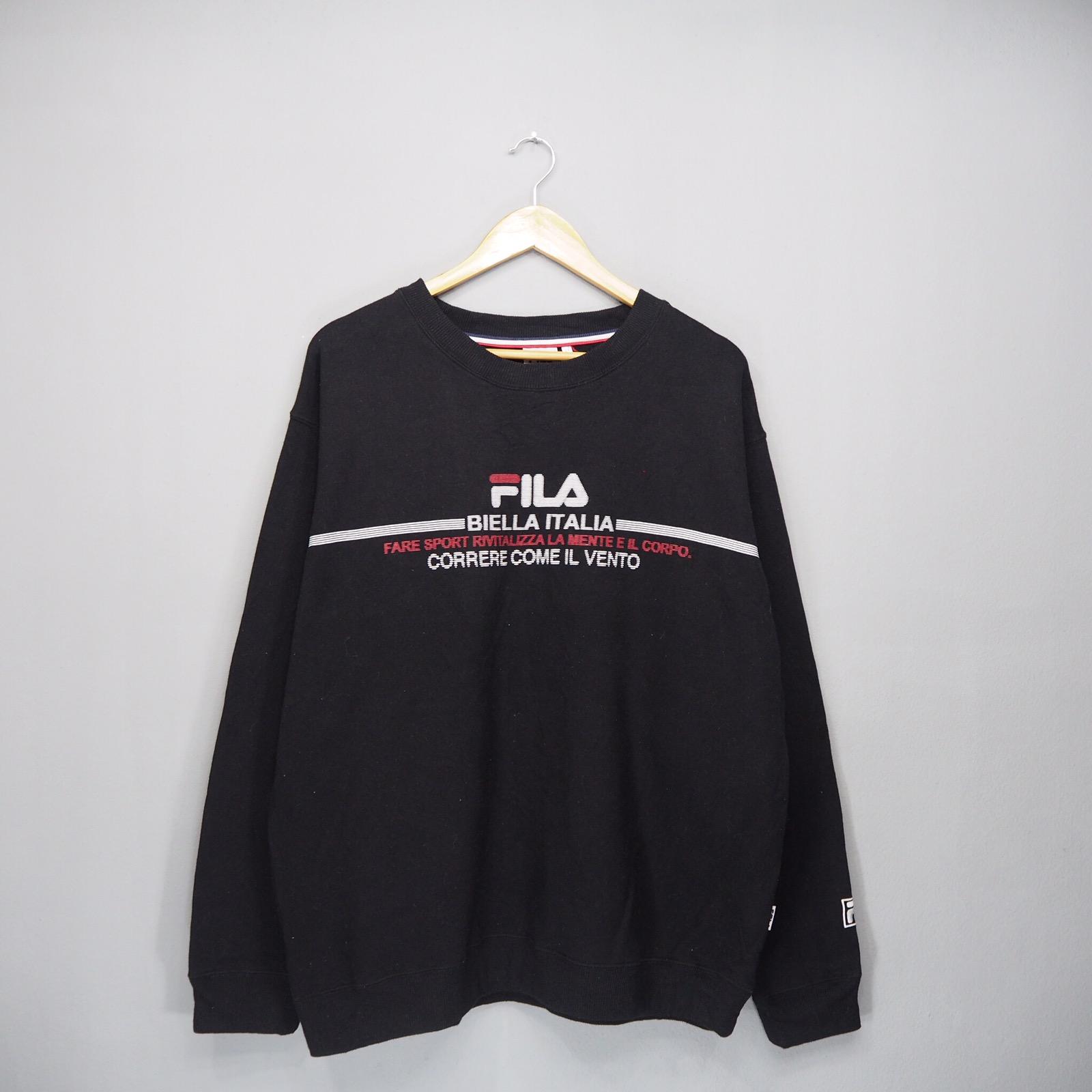 b9b12e618159 Fila Rare!! Fila Sweatshirt Big Logo Pullover Jumper Size xl - Sweatshirts    Hoodies for Sale - Grailed