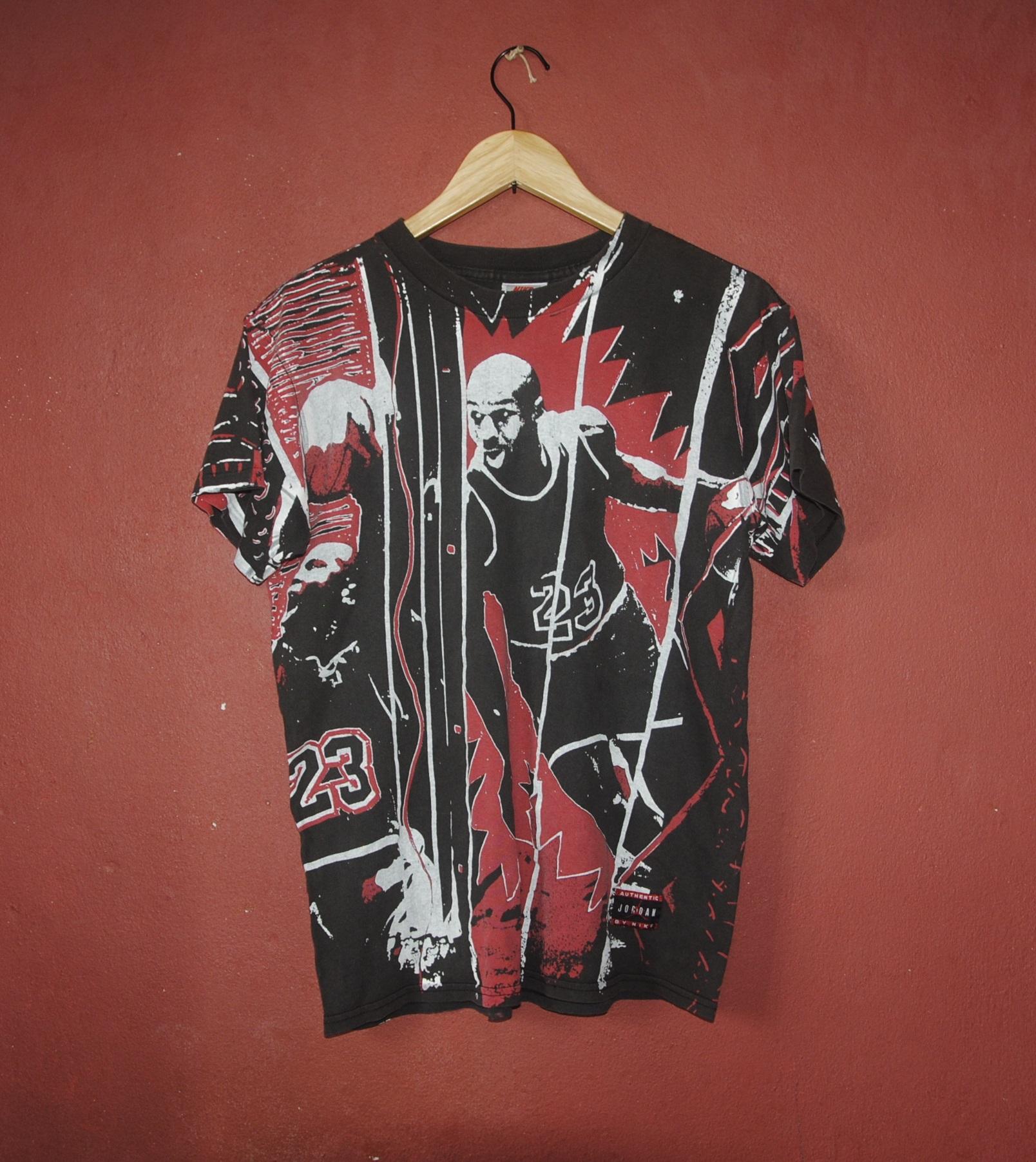 169d2dca8c Nike Vintage Nike Michael Jordan 23 All Over Print T Shirt Youth ...
