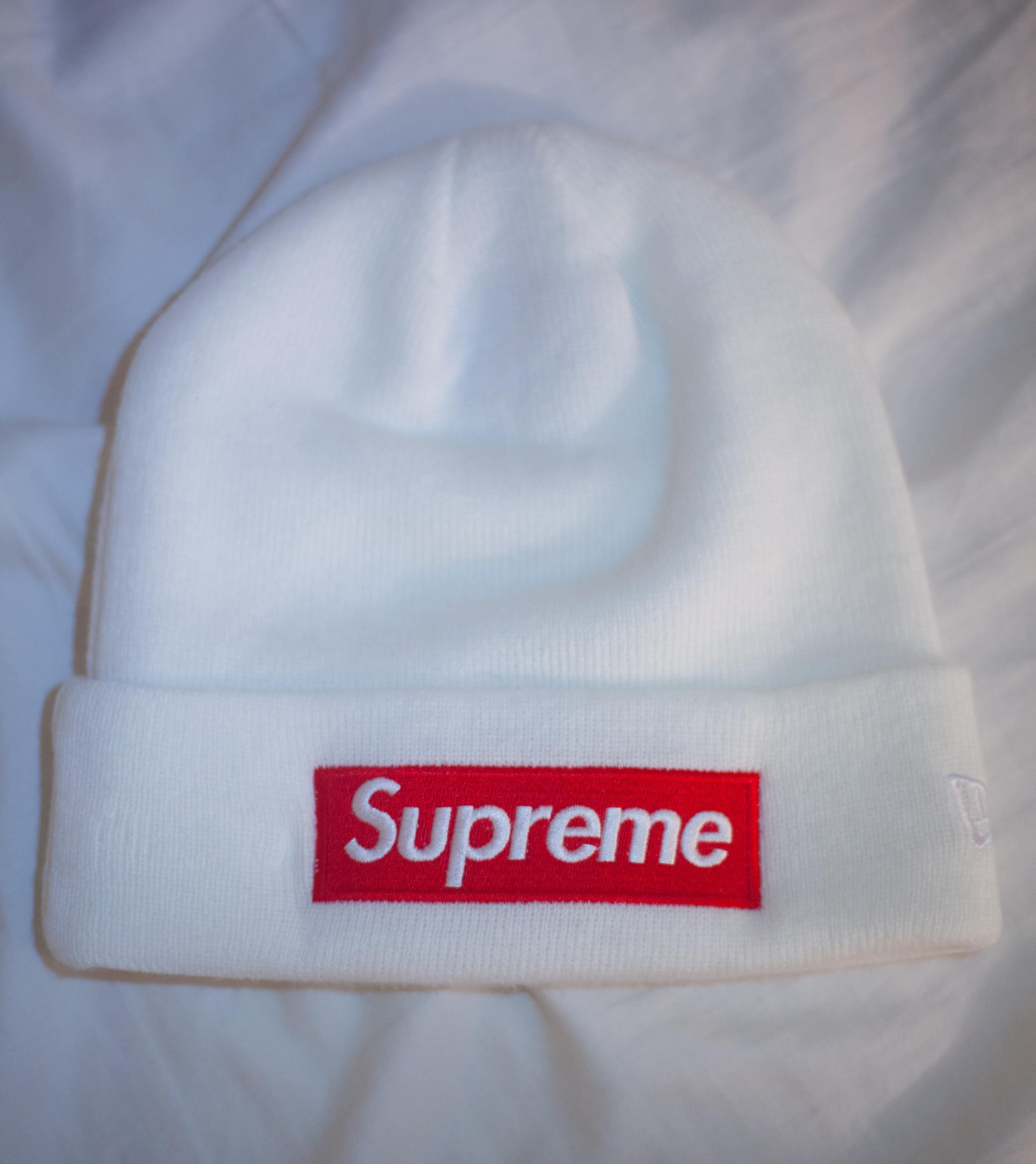 bb704ad6dde Supreme FW16 Box Logo Beanie (Red Box   White Beanie) Size one size - Hats  for Sale - Grailed