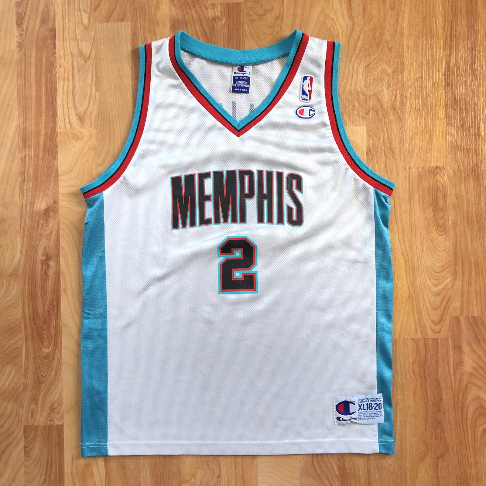 promo code 2011d ed164 VTG 90s Memphis Grizzlies Jason Williams 2 Basketball Jersey Rare Size  Medium