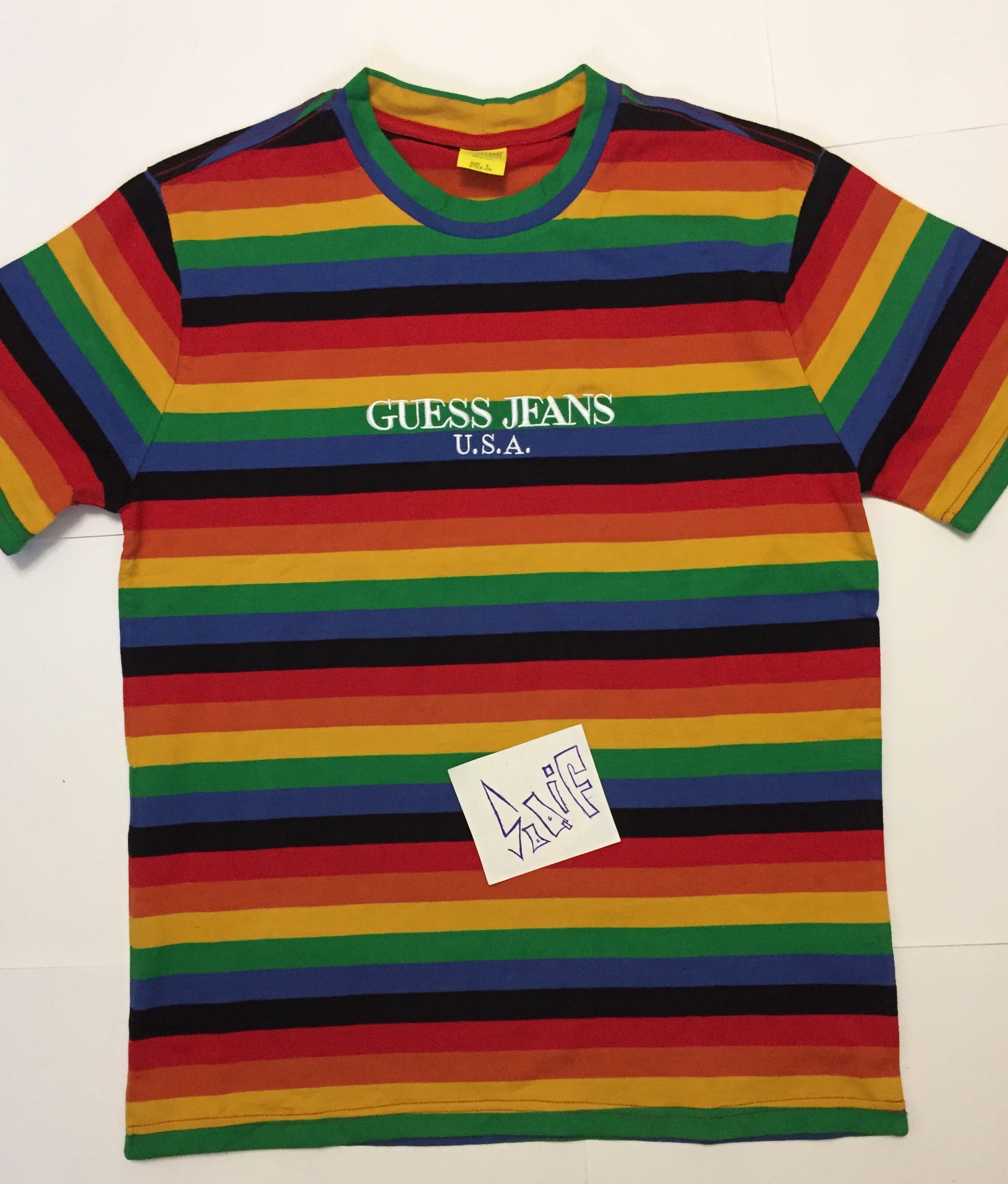 7edef81569e7 Guess Guess X Sean Wotherspoon Rainbow Striped Tee, S Size | Grailed