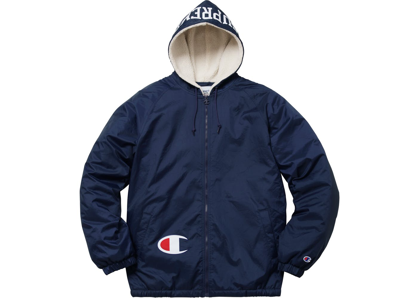 ce1f66a15554 Supreme Supreme Champion Sherpa Lined Hooded Jacket Navy Size m ...