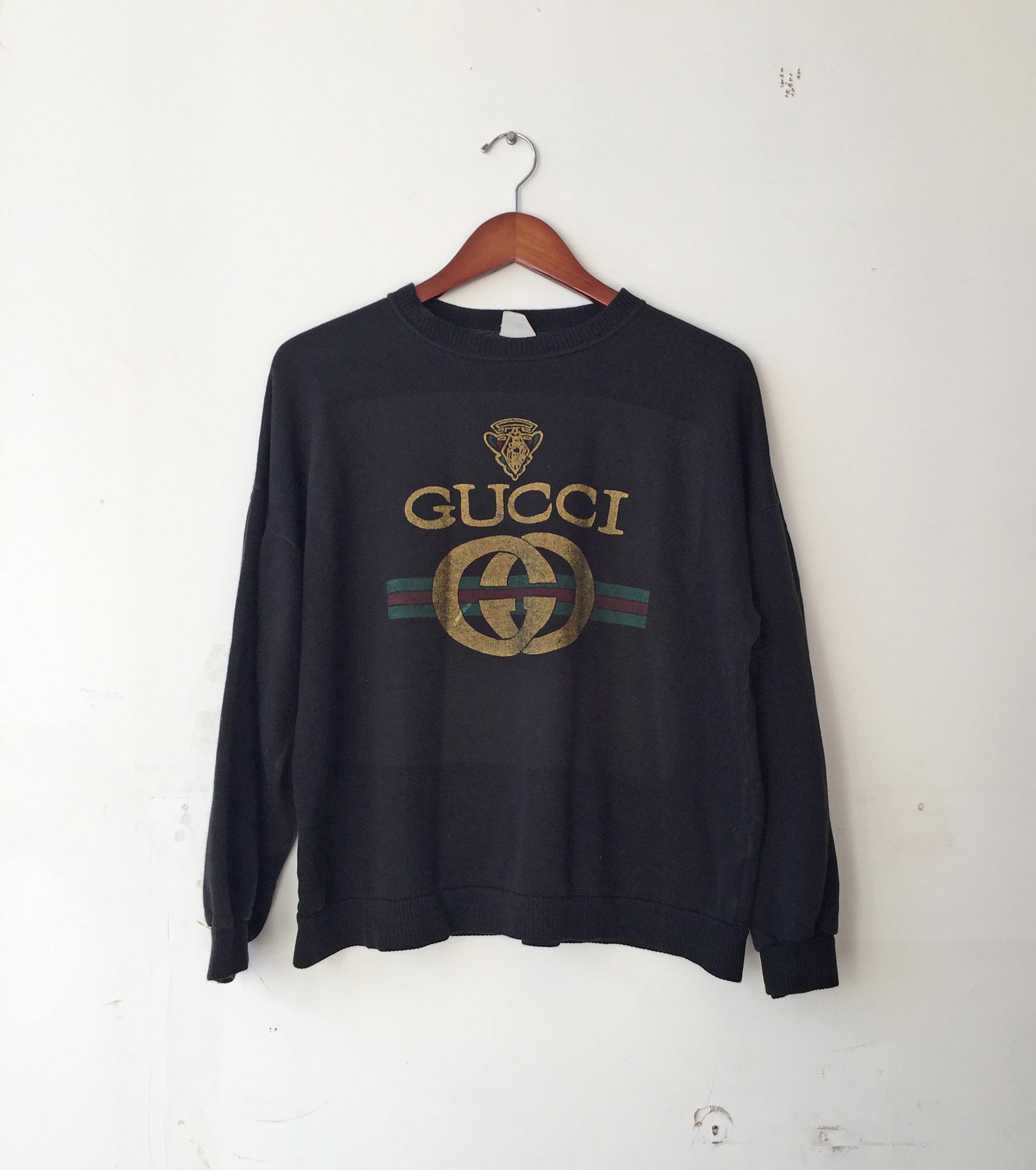 0276a8a270b Vintage Vintage 90s Gucci Logo Bootleg Sweatshirt