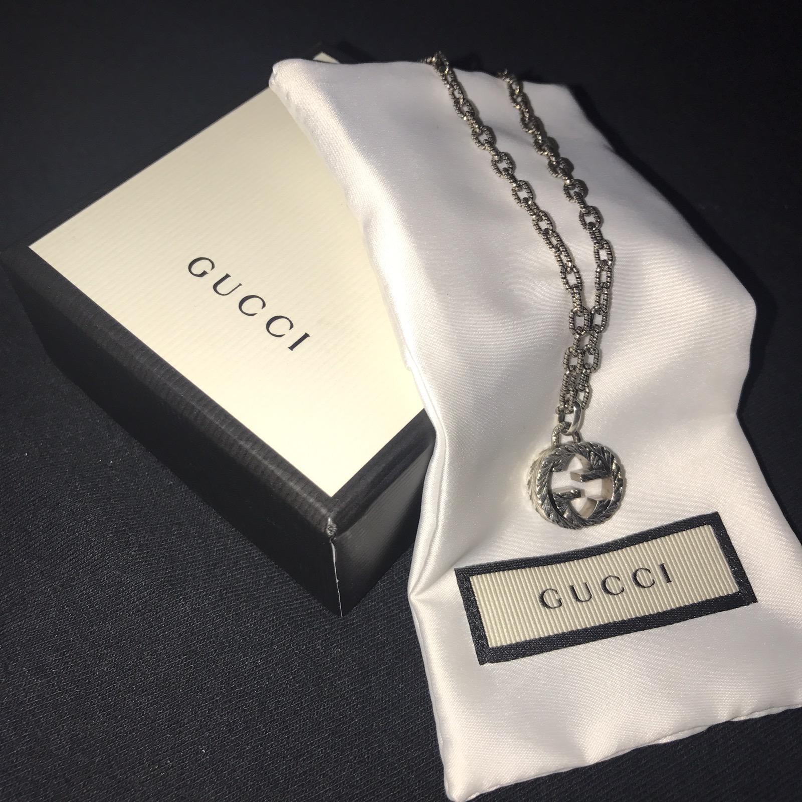 51ba51b0b Gucci Interlocking G Necklace In Silver | Grailed