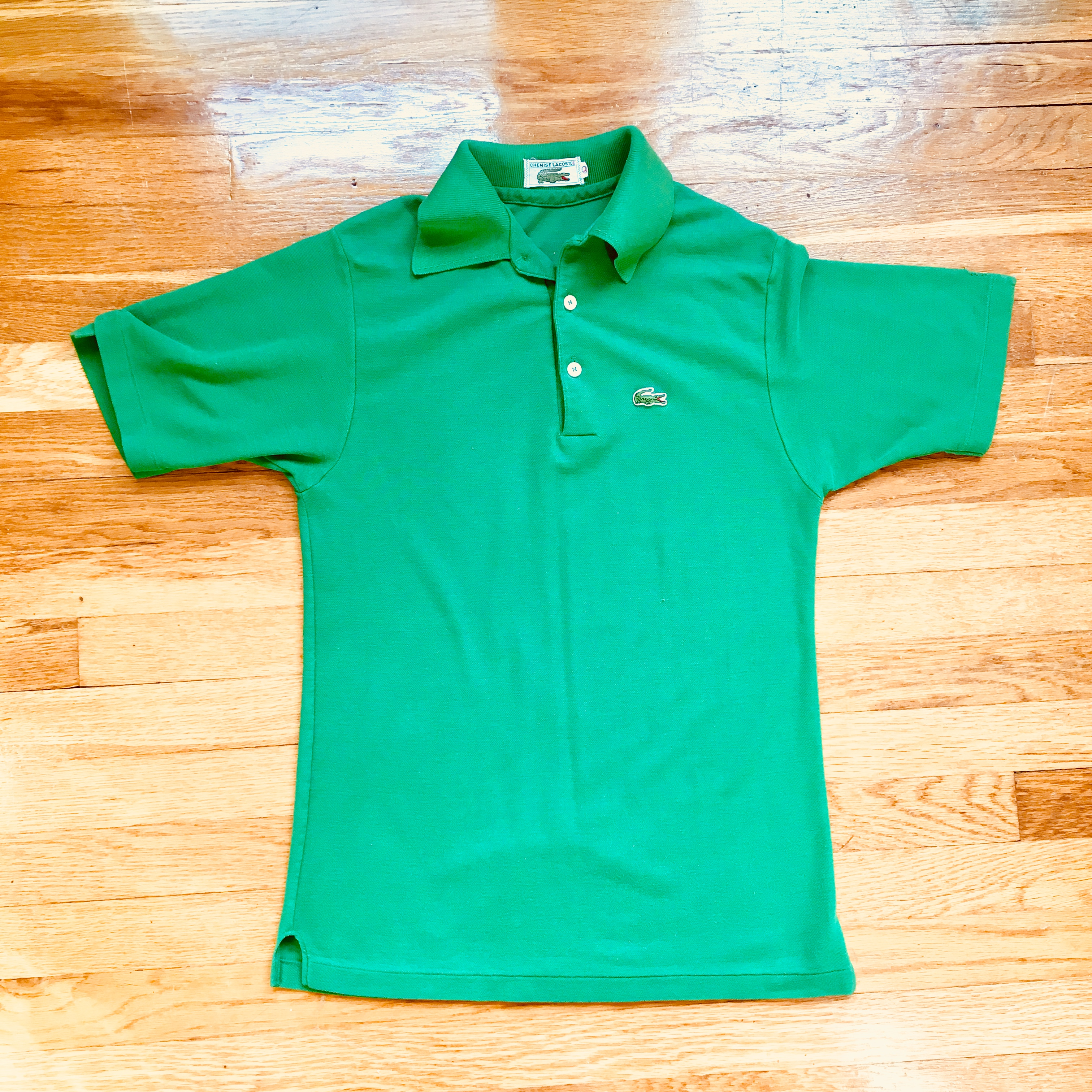 dedfc98b96255 Vintage Chemise Lacoste Green Polo Size l - Polos for Sale - Grailed
