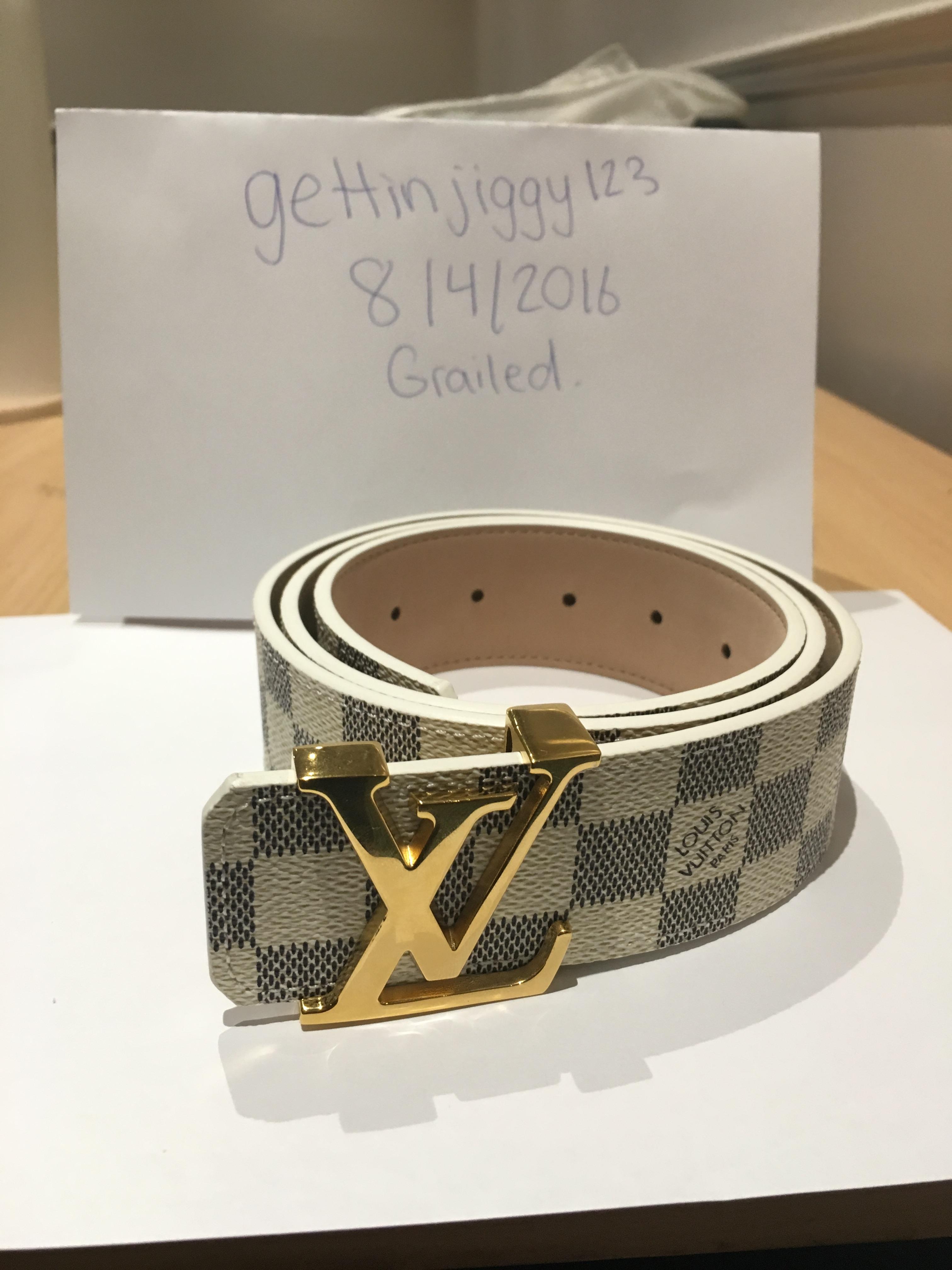 1f4db2beee6d6 Louis Vuitton Damier Azur Belt Size 32 - Belts for Sale - Grailed