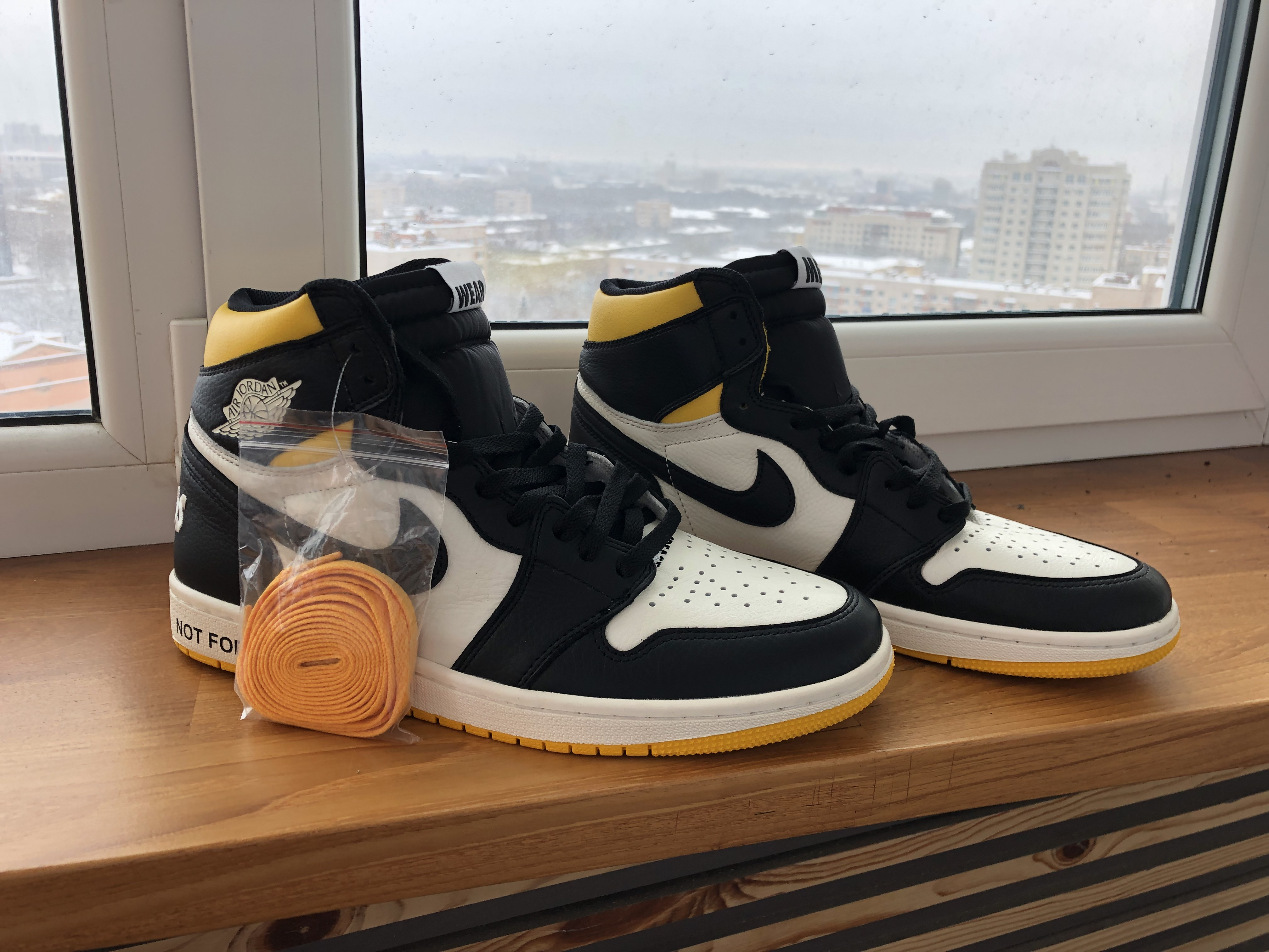 1fc789790bfa Nike ×. Air Jordan 1 Retro High OG NRG Not For Resale Yellow Varsity Maize