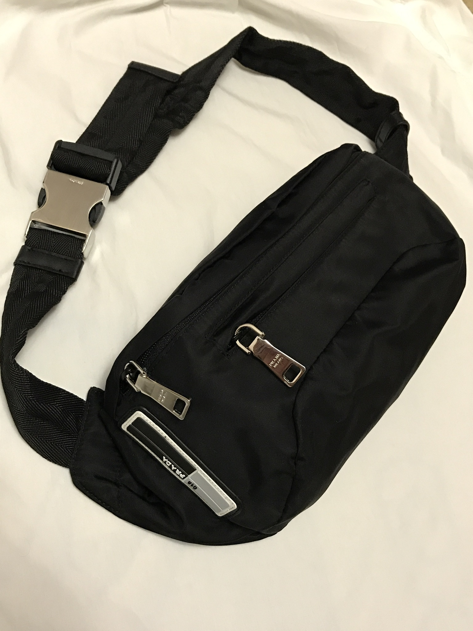 ea4d122c Prada 018 Nylon Cross Body Bag / Fanny Pack