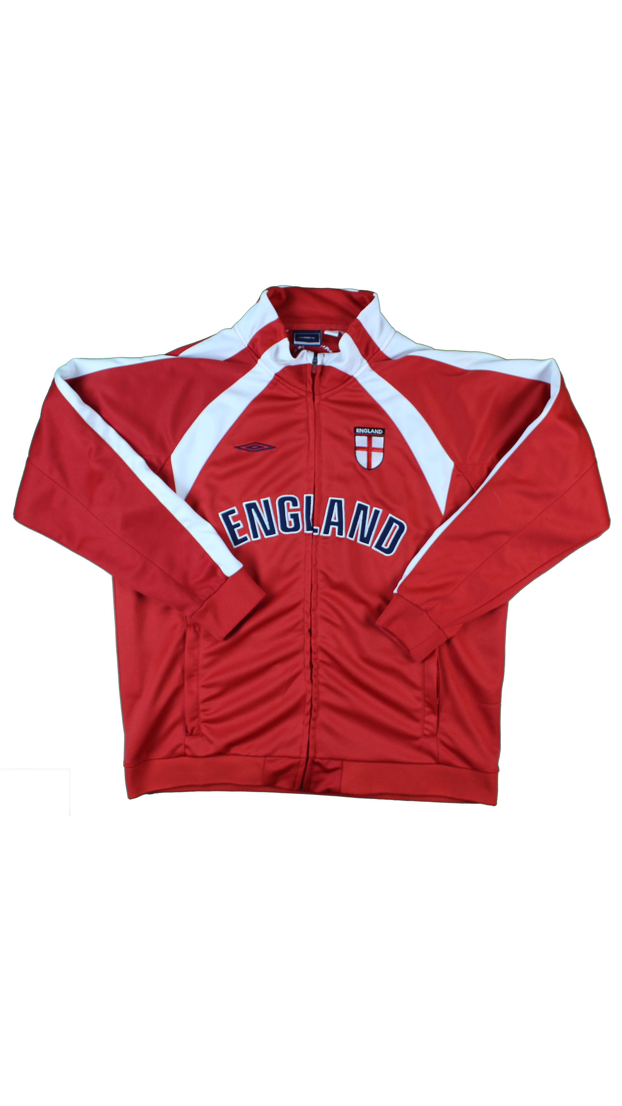 b99d0aba72 Vintage Umbro Red Athletic Team England Soccer All Embroidered Logo ...
