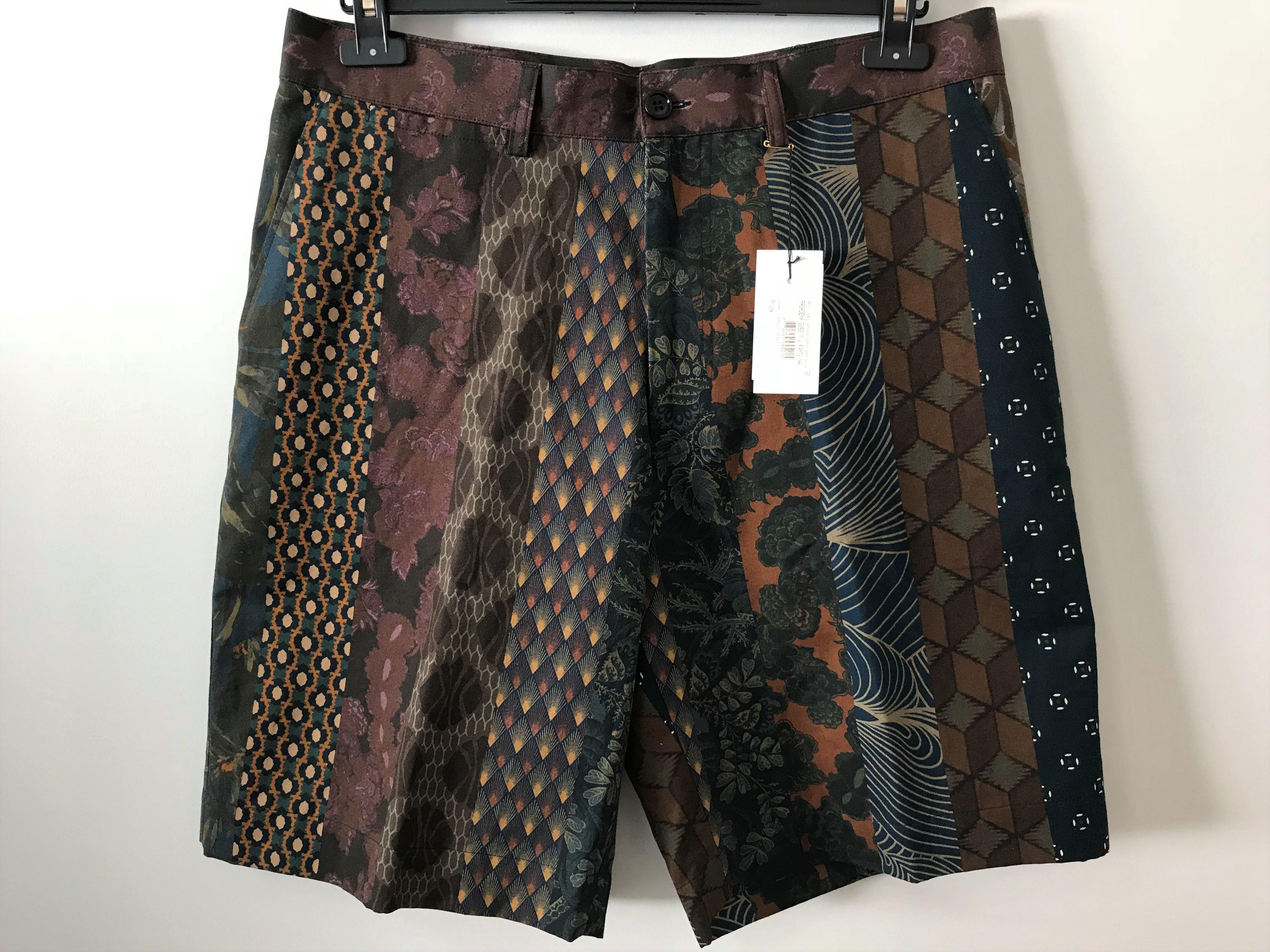 1aa44cb708 Dries Van Noten ×. EU50 - Pasadena Cotton / Linen Blend Patterned Shorts -  SS18. Size: US 34 ...